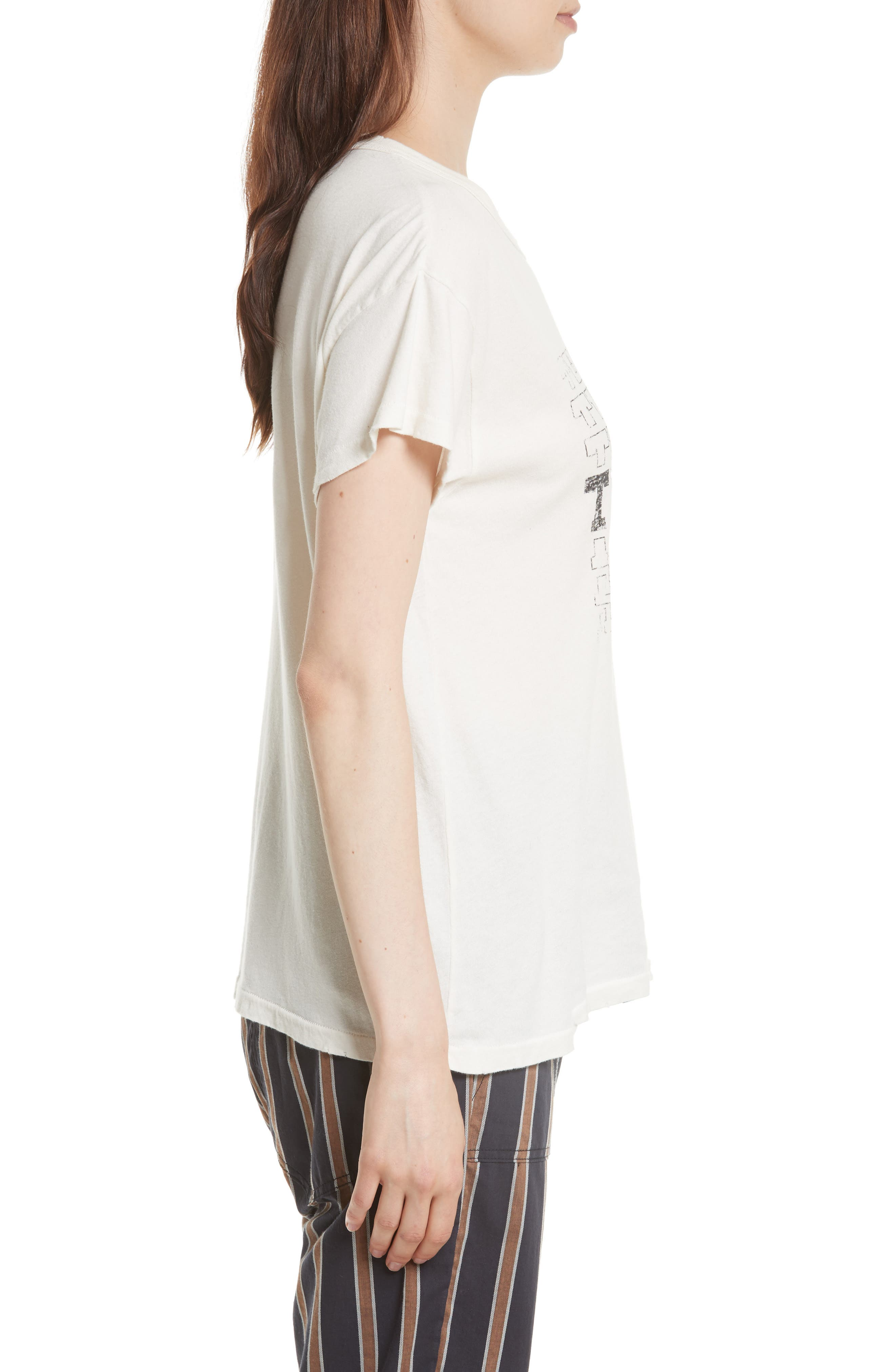 The Boxy Graphic Tee,                             Alternate thumbnail 3, color,                             Washed White W/ Black