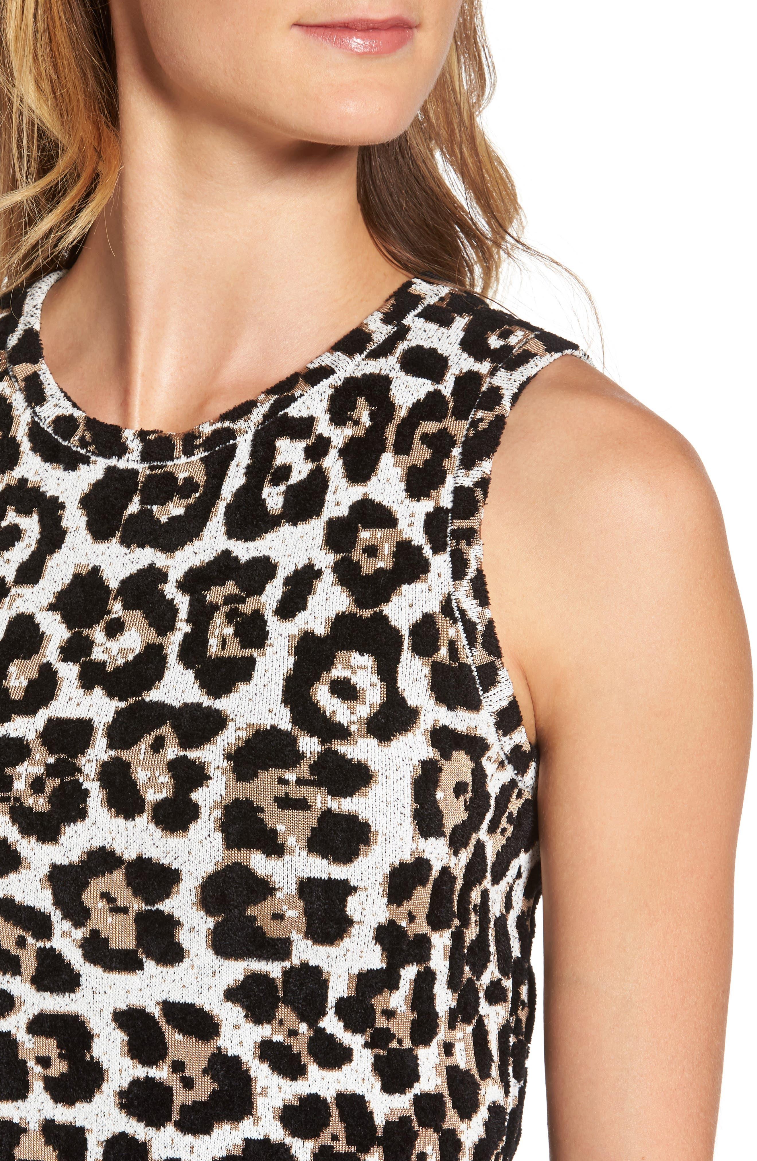 Alternate Image 4  - MICHAEL Michael Kors Animal Print Sheath Dress