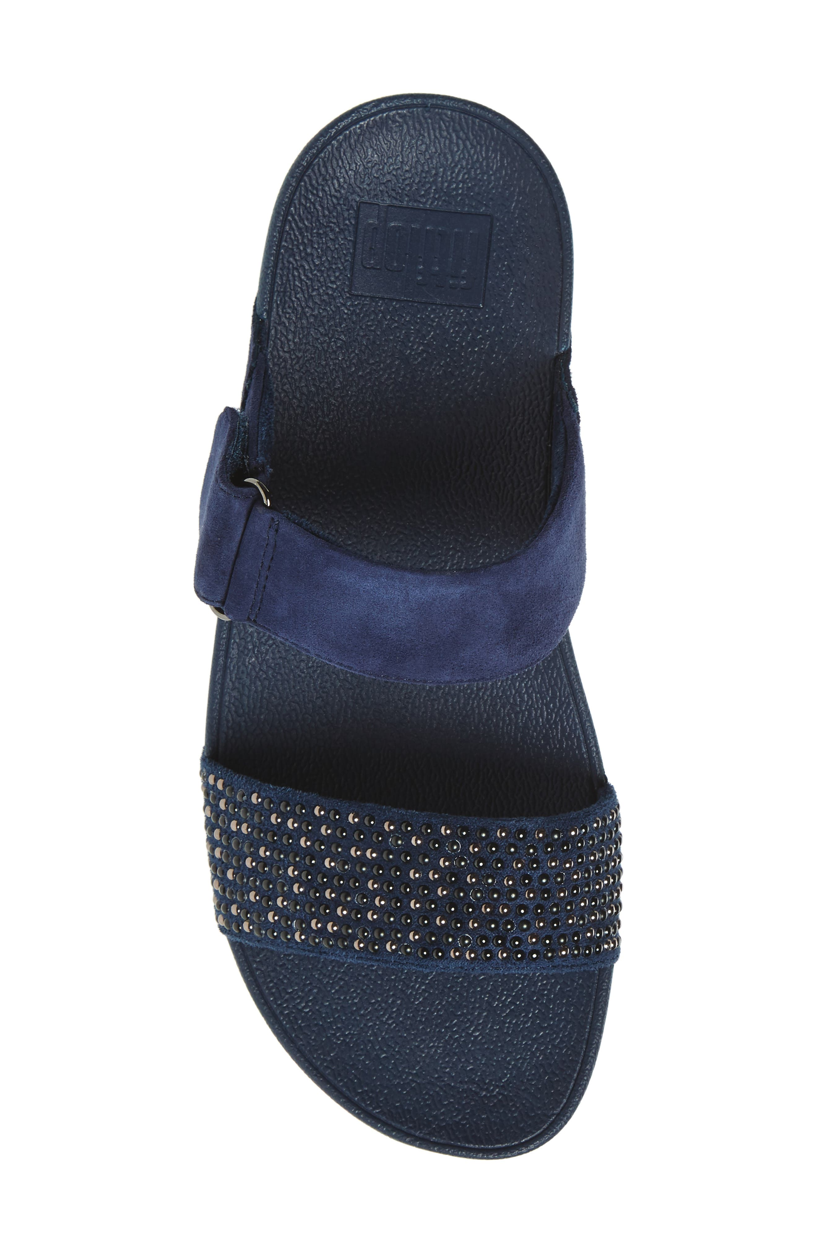 Alternate Image 5  - FitFlop Lulu Popstud Wedge Slide Sandal (Women)