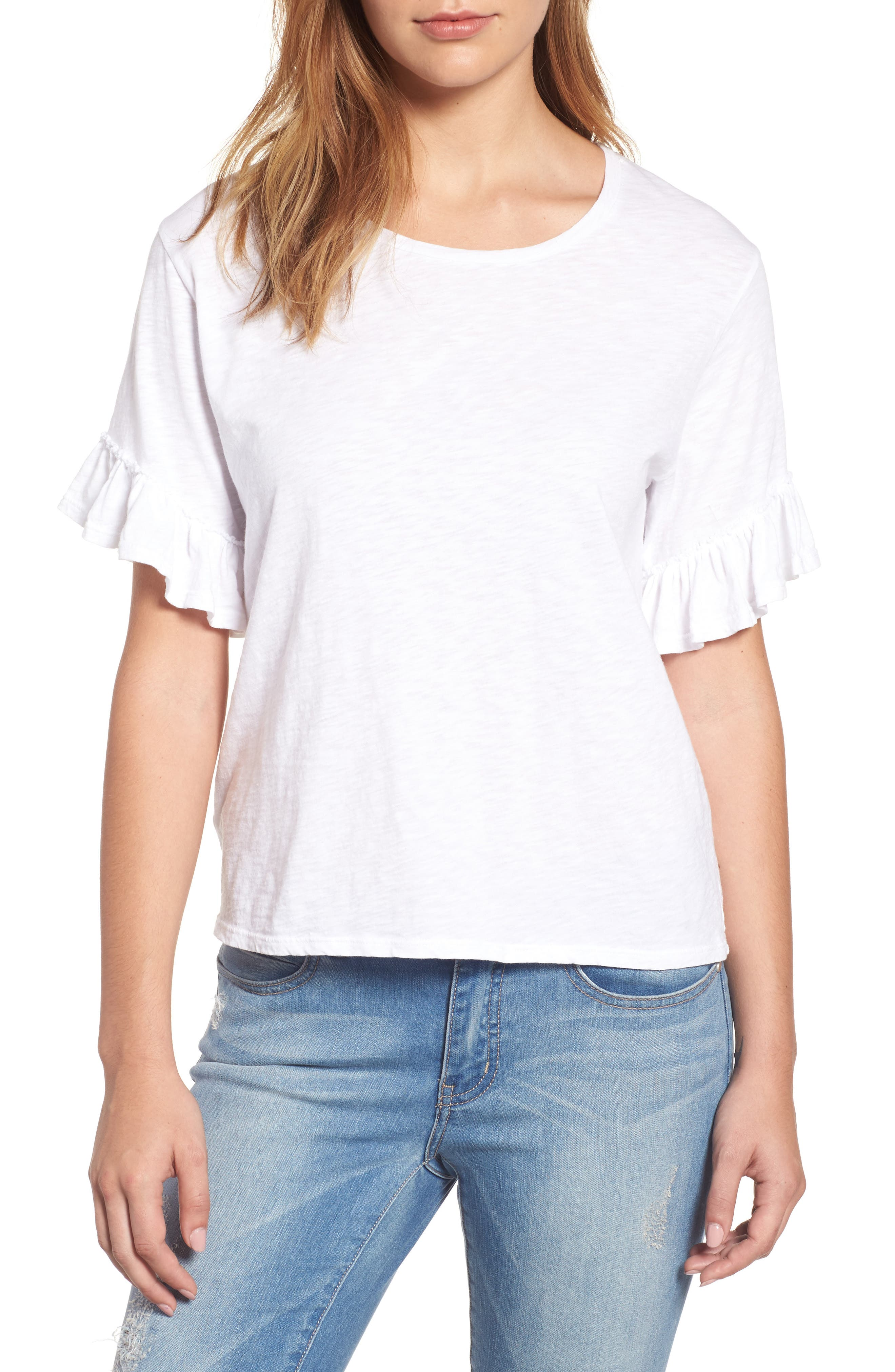 Velvet by Graham & Spencer Ruffle Sleeve Tee