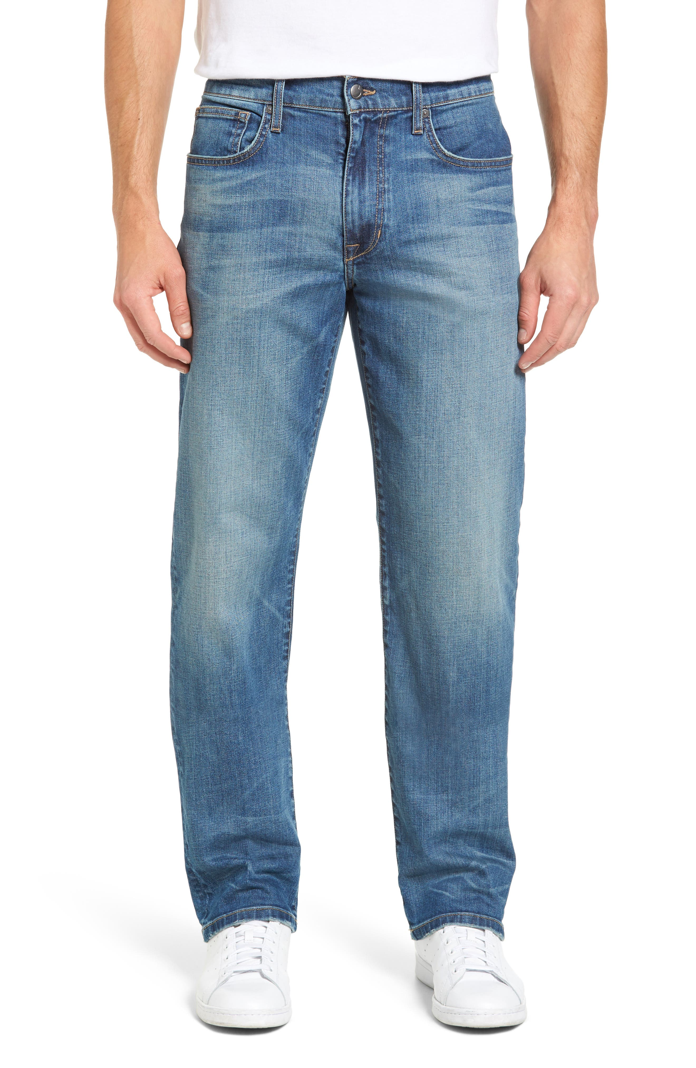 Classic Straight Fit Jeans,                             Main thumbnail 1, color,                             Westley