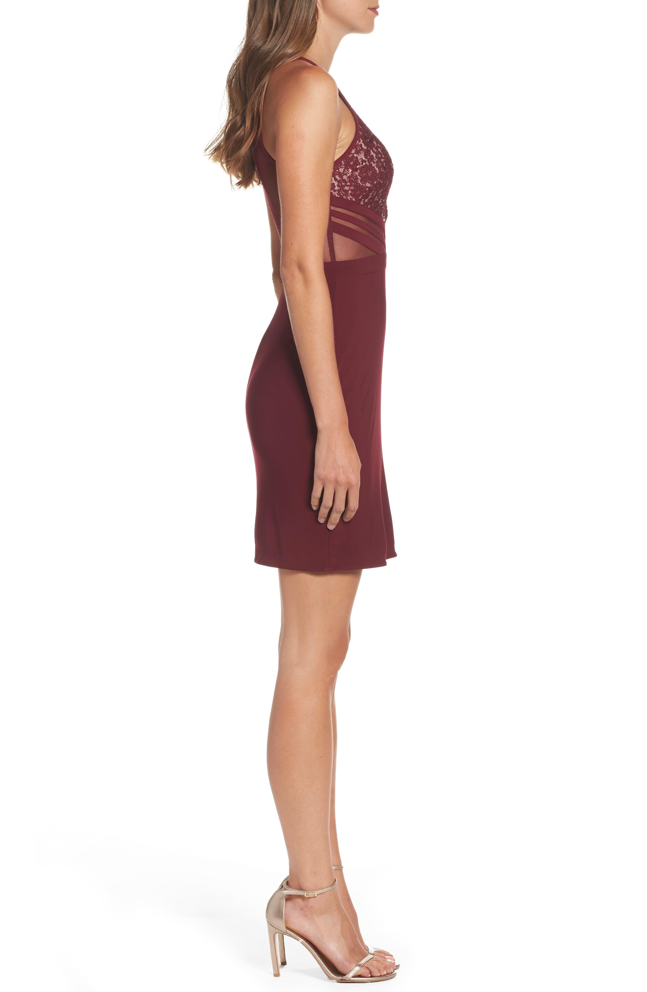Alternate Image 3  - Morgan & Co. Scallop Lace Bodice Body-Con Dress