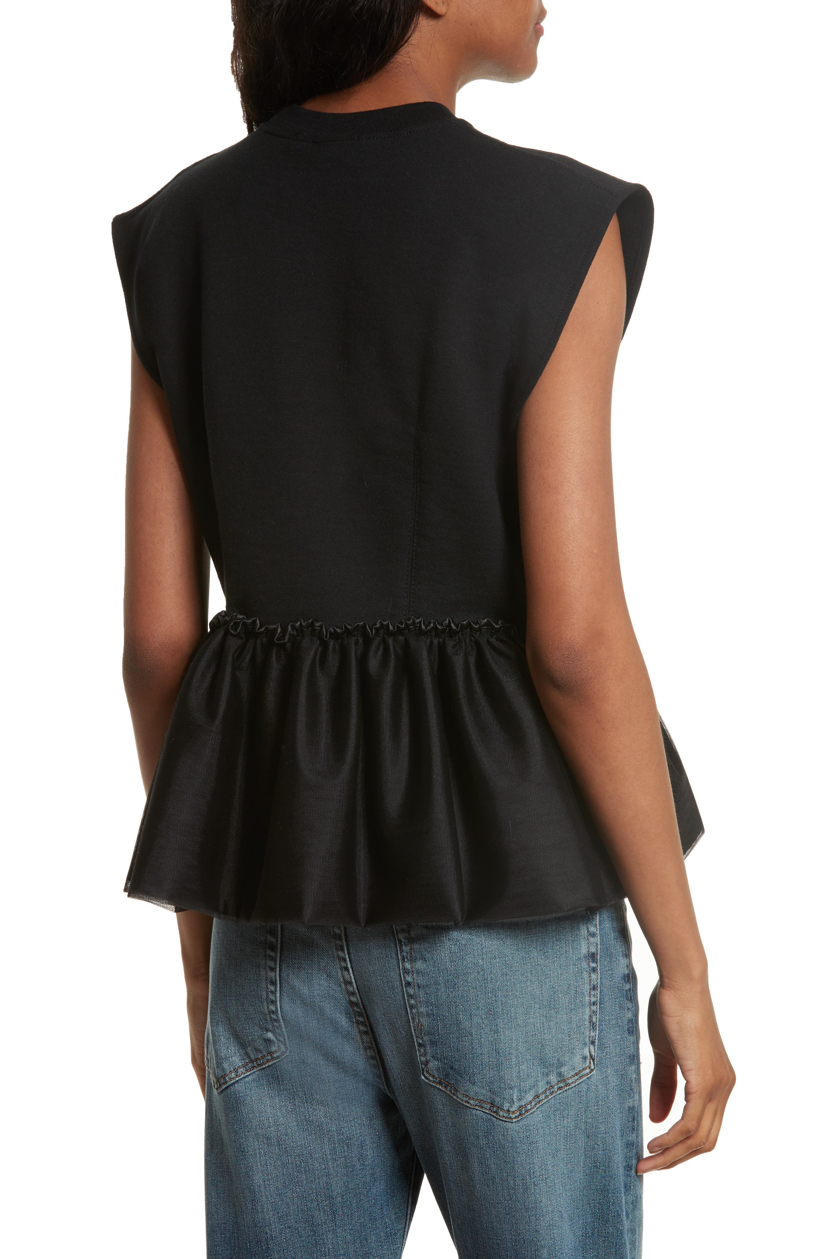 Alternate Image 2  - Harvey Faircloth Tulle Peplum Tank