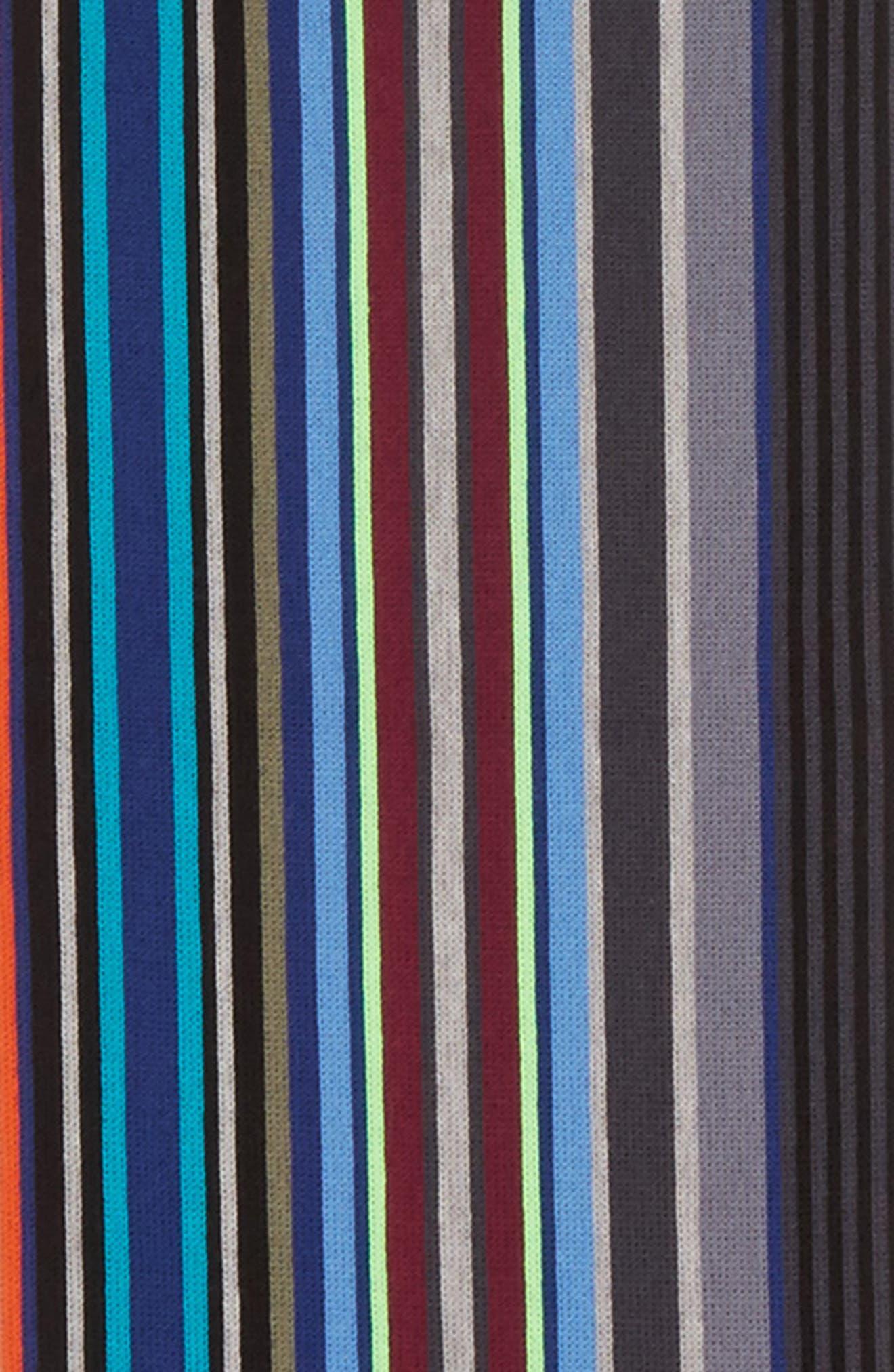 Stripe Wool Scarf,                             Alternate thumbnail 3, color,                             Olive Multi