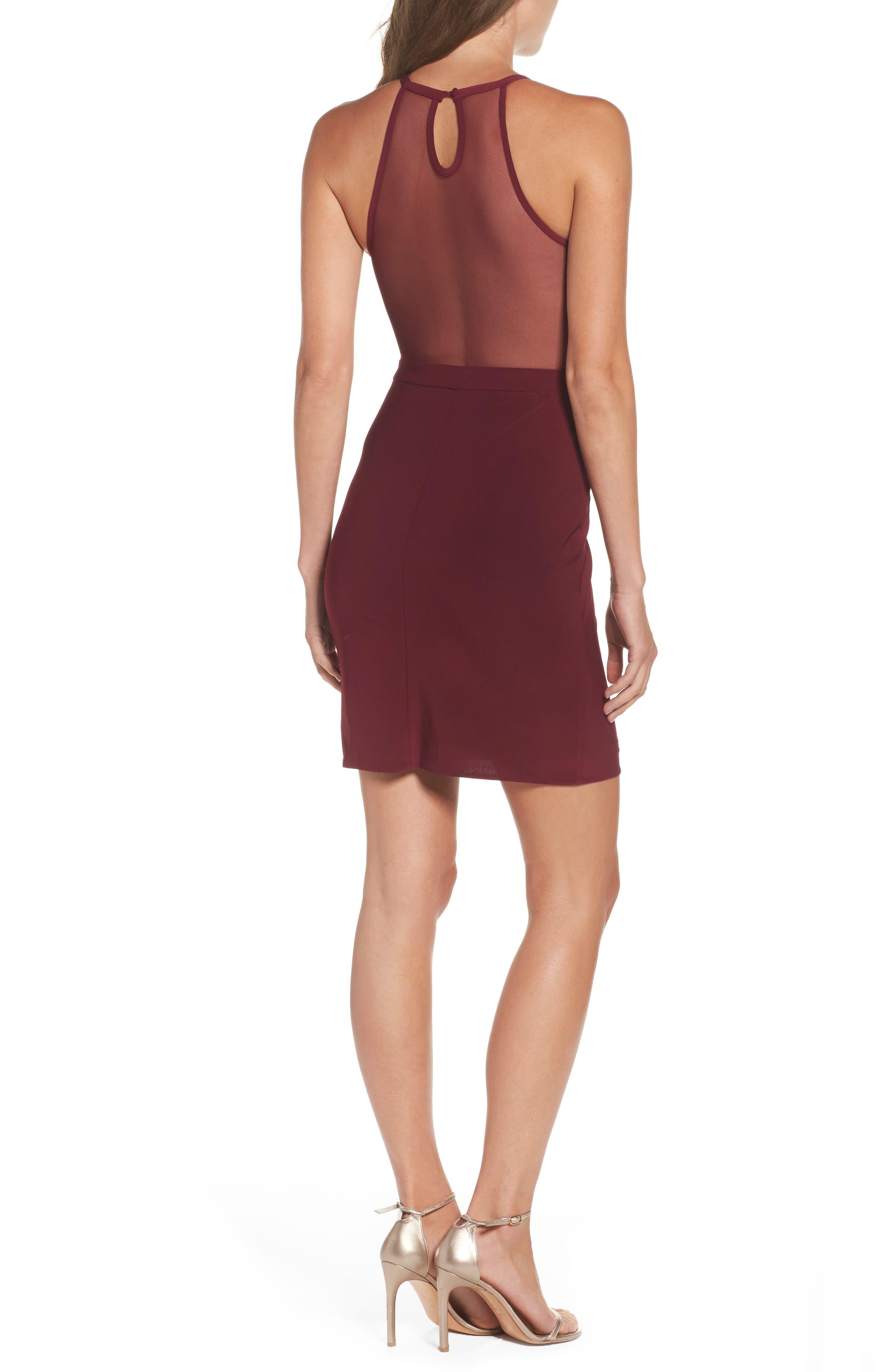 Alternate Image 2  - Morgan & Co. Scallop Lace Bodice Body-Con Dress