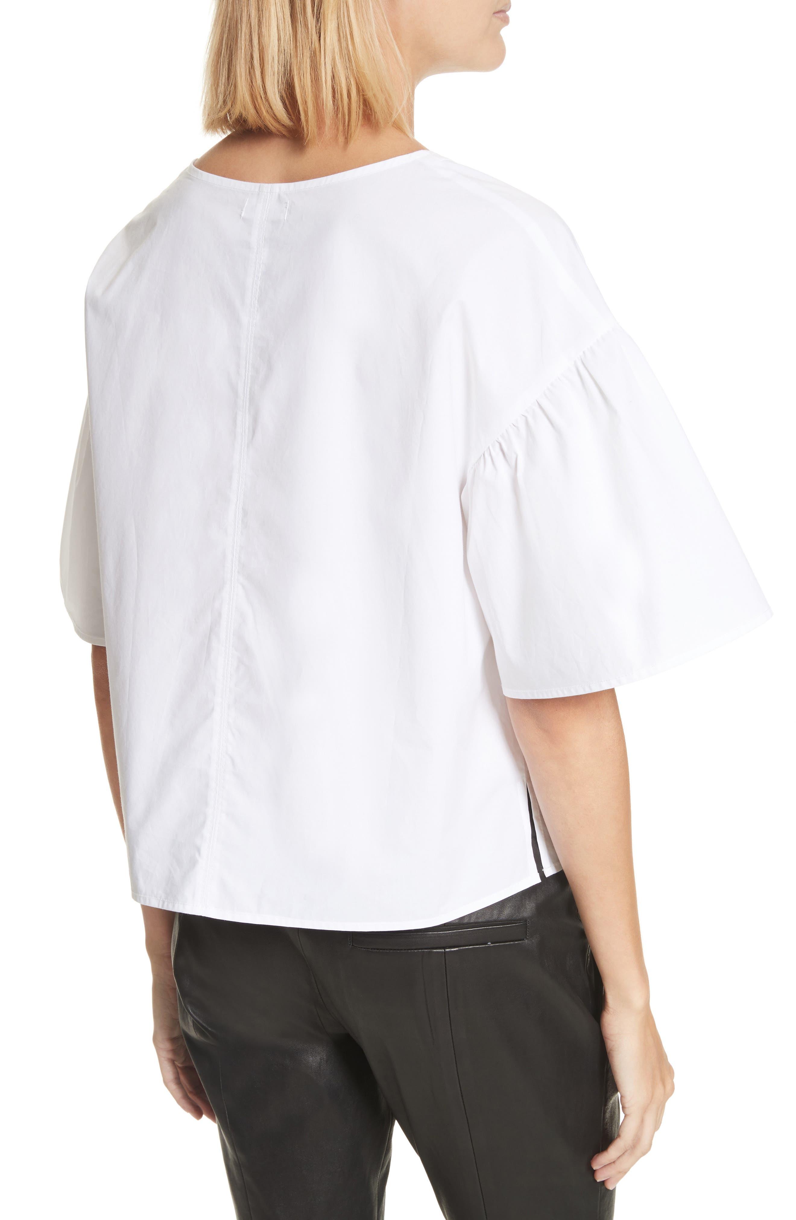 Kyrie Cotton Top,                             Alternate thumbnail 3, color,                             White