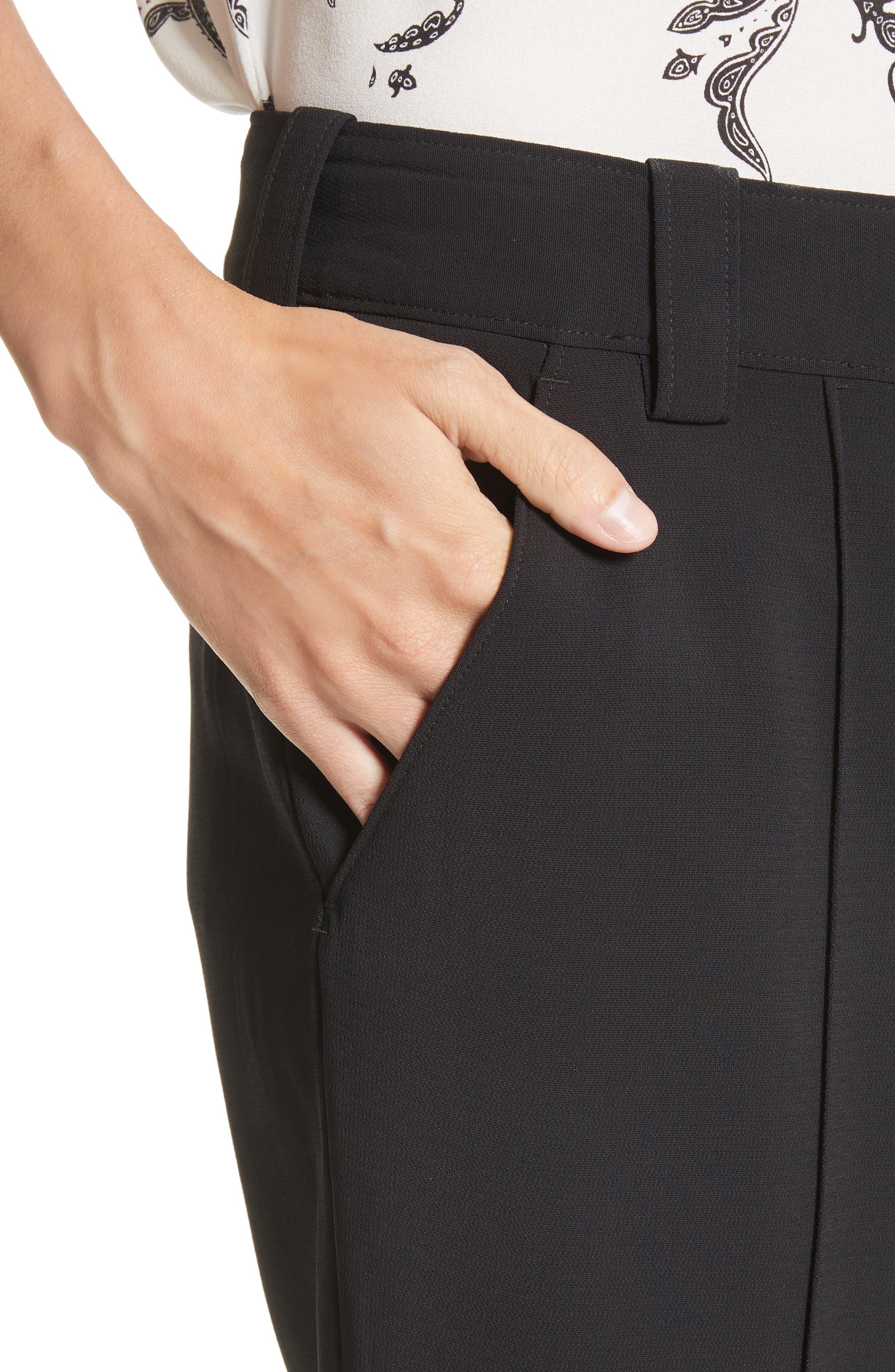 Felix Crop Flare Pants,                             Alternate thumbnail 5, color,                             Black