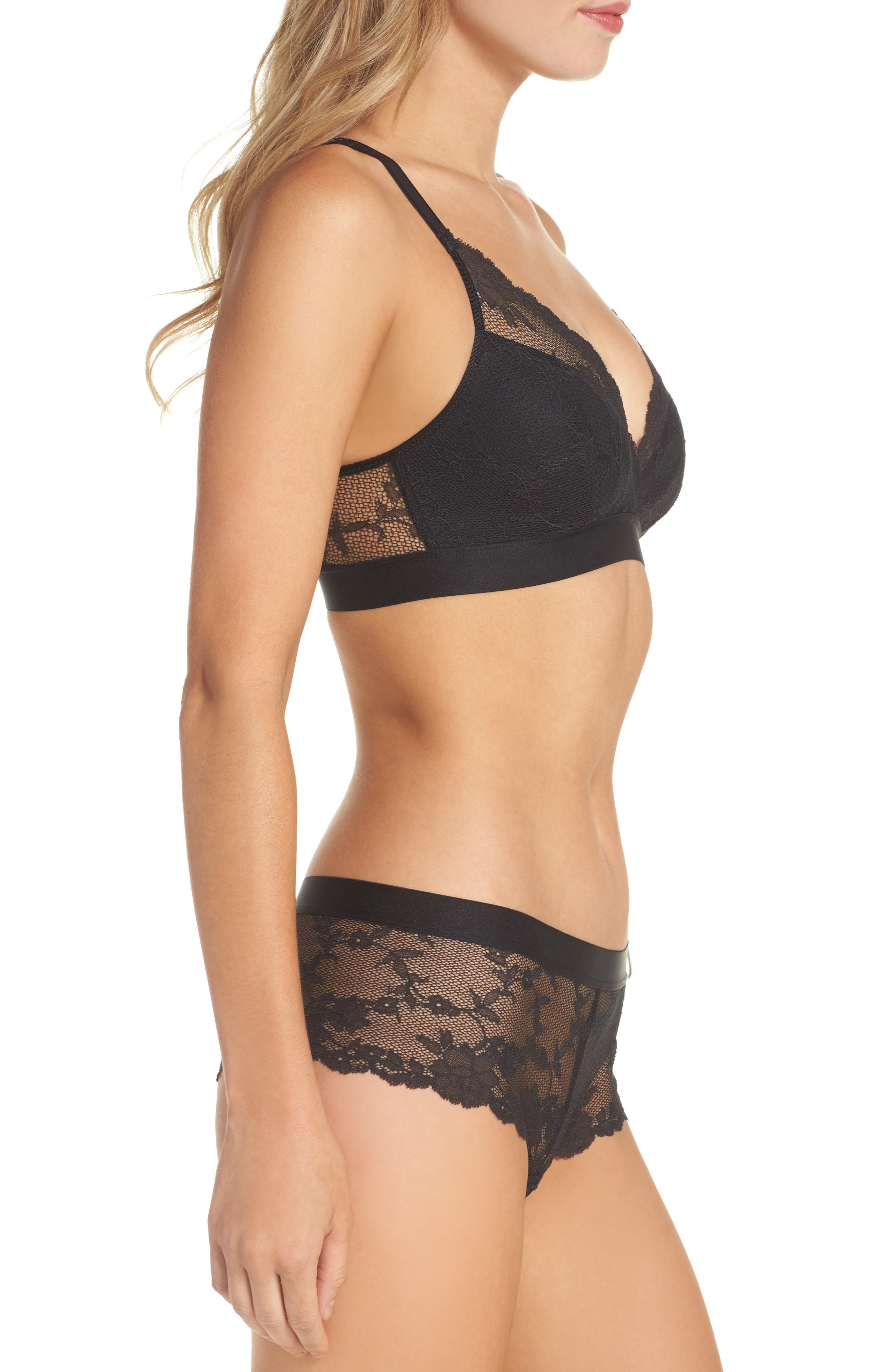 Everyday Lace Hipster Panties,                             Alternate thumbnail 7, color,                             Black