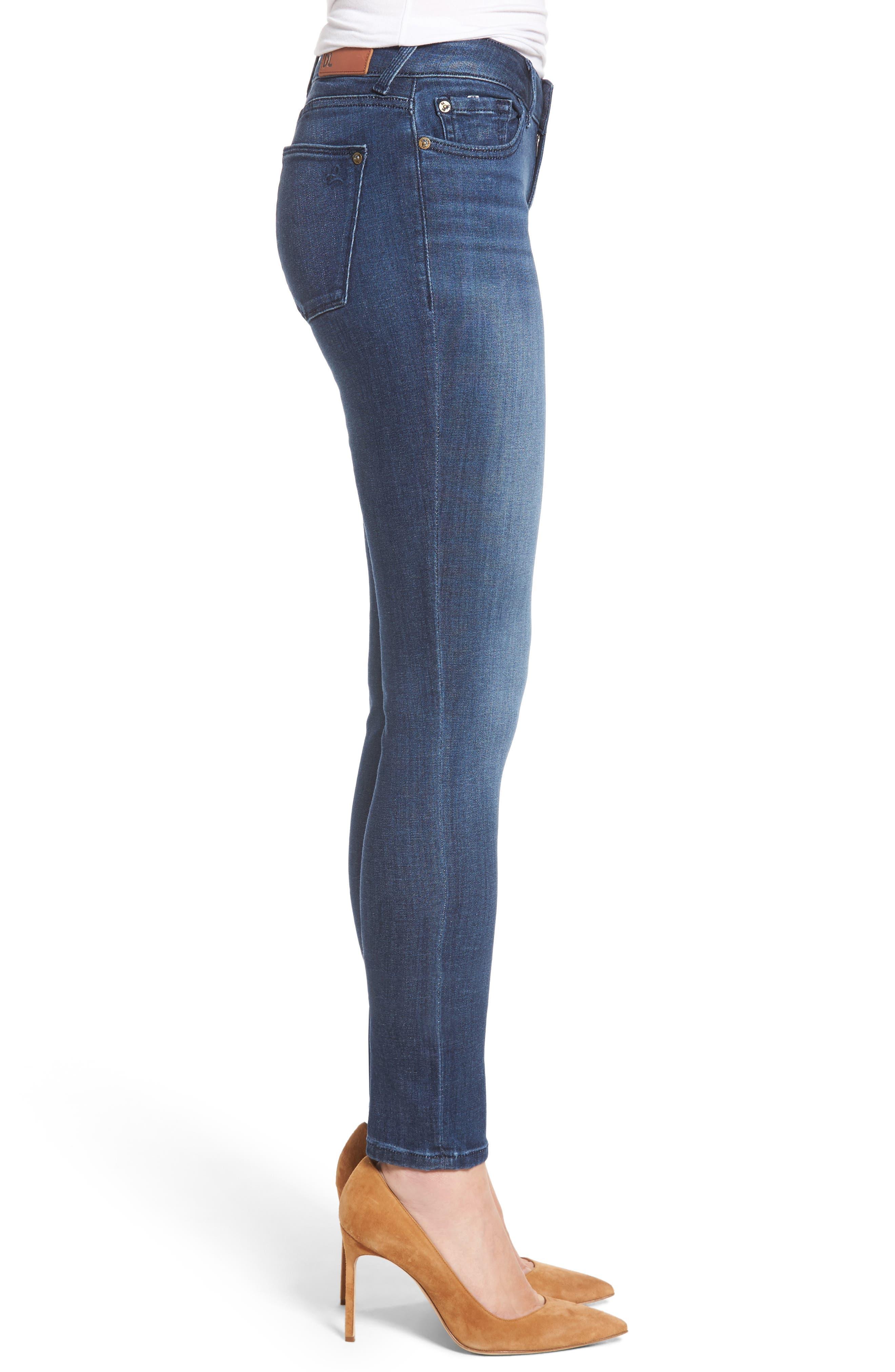 Amanda Skinny Jeans,                             Alternate thumbnail 3, color,                             Trance