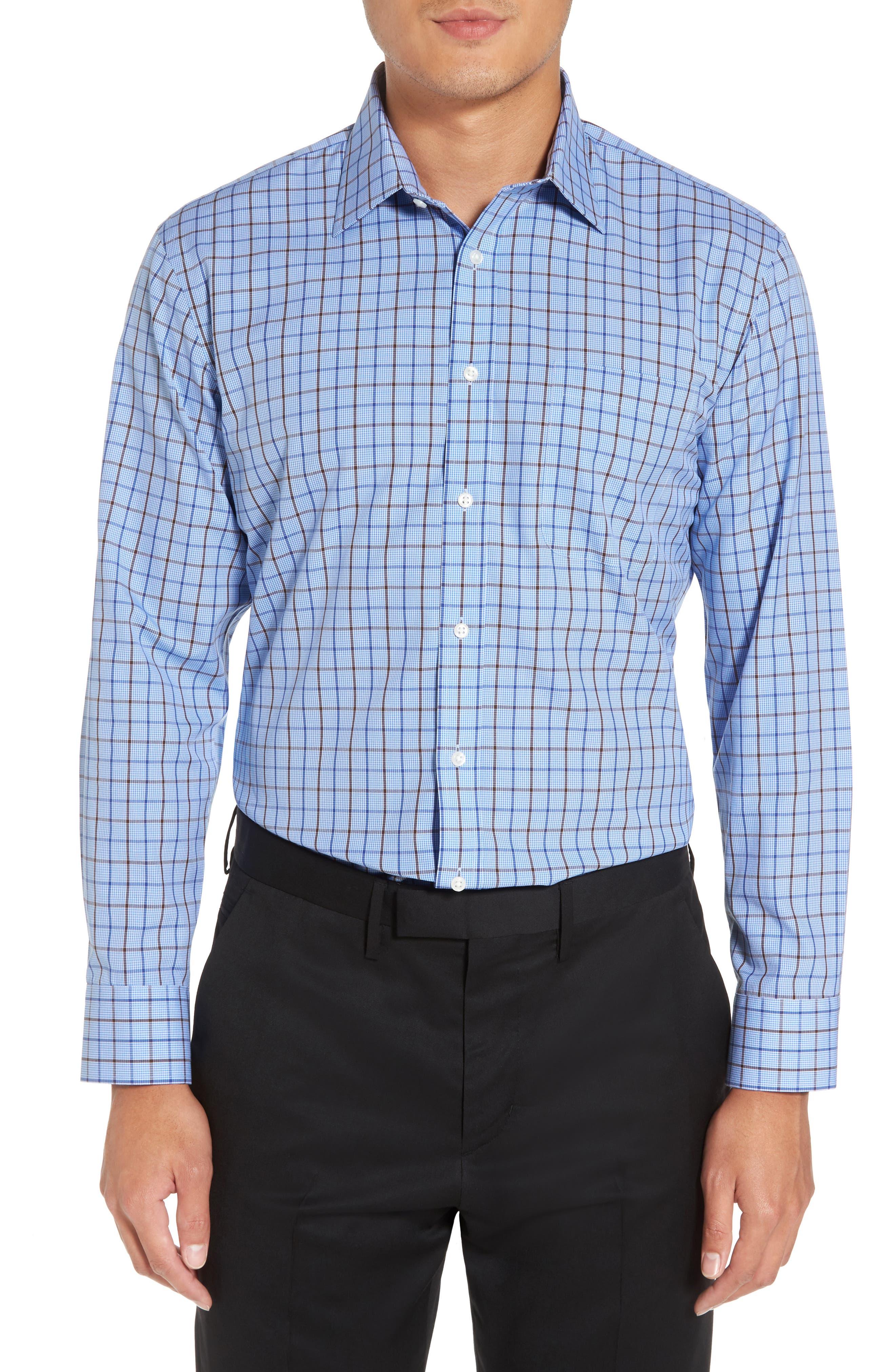 Alternate Image 2  - Nordstrom Men's Shop Smartcare™ Trim Fit Check Dress Shirt