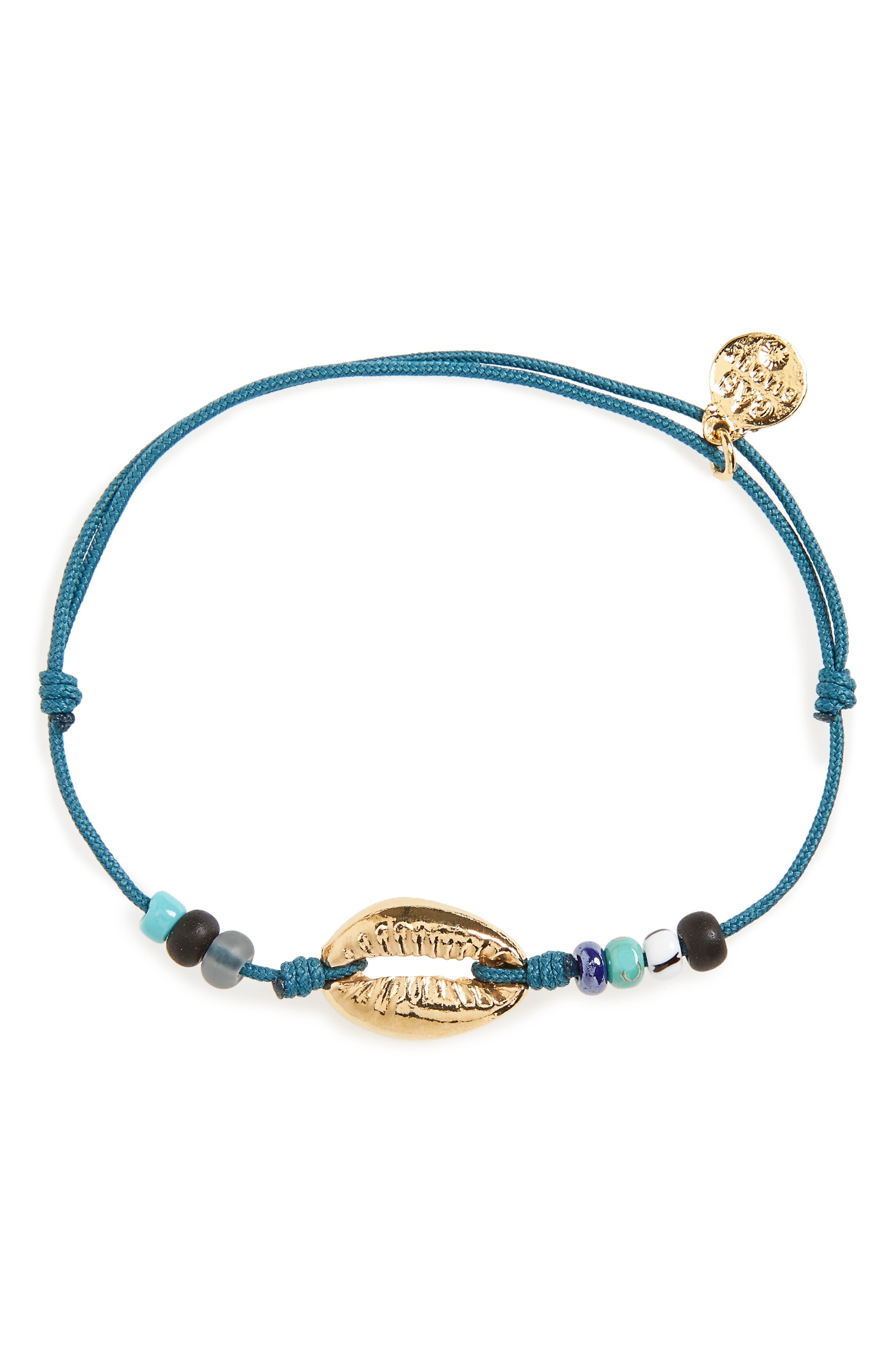 Capri Shell Bracelet,                         Main,                         color, Blue