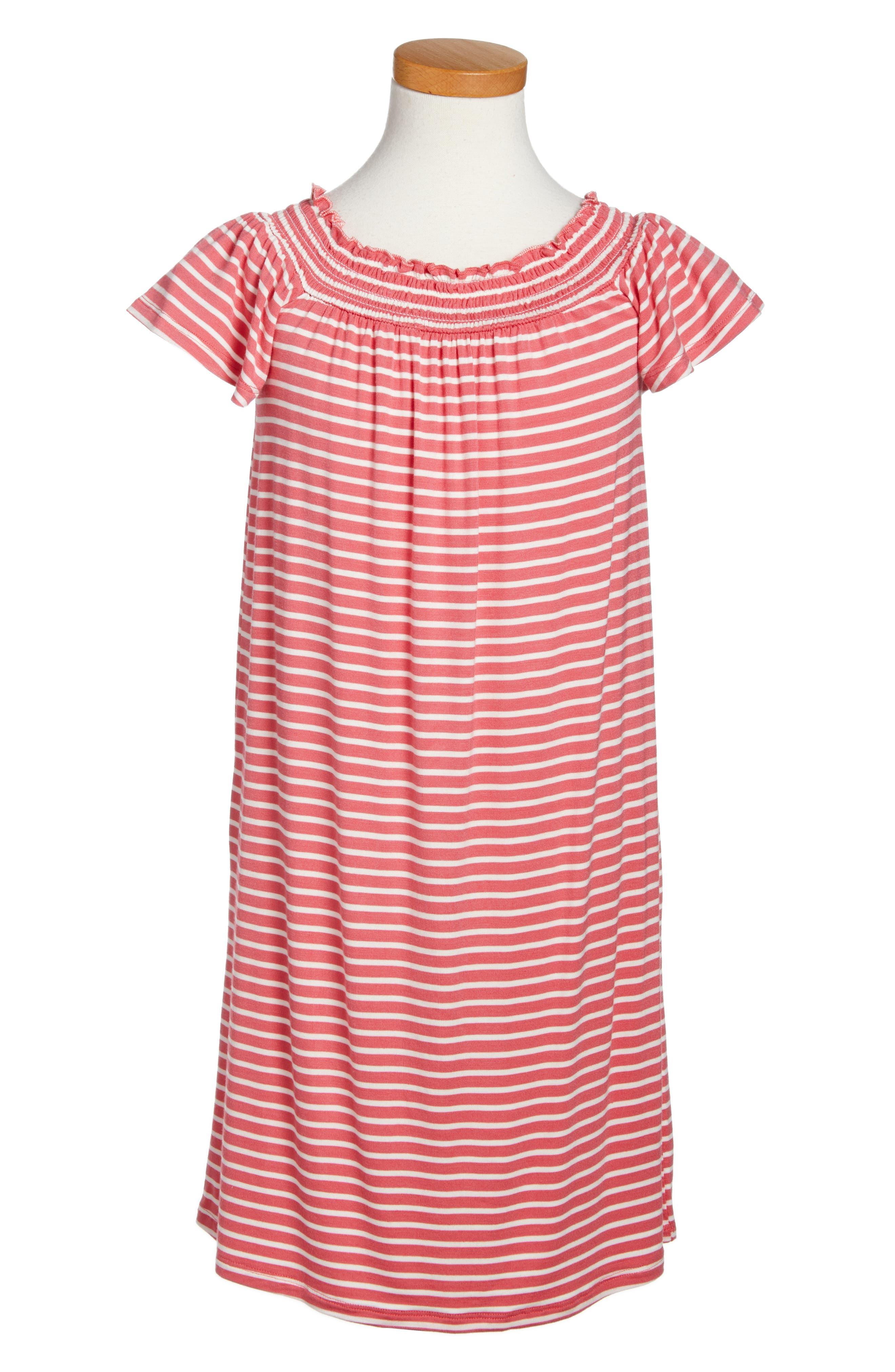 Love, Fire Stripe Shift Dress (Big Girls)