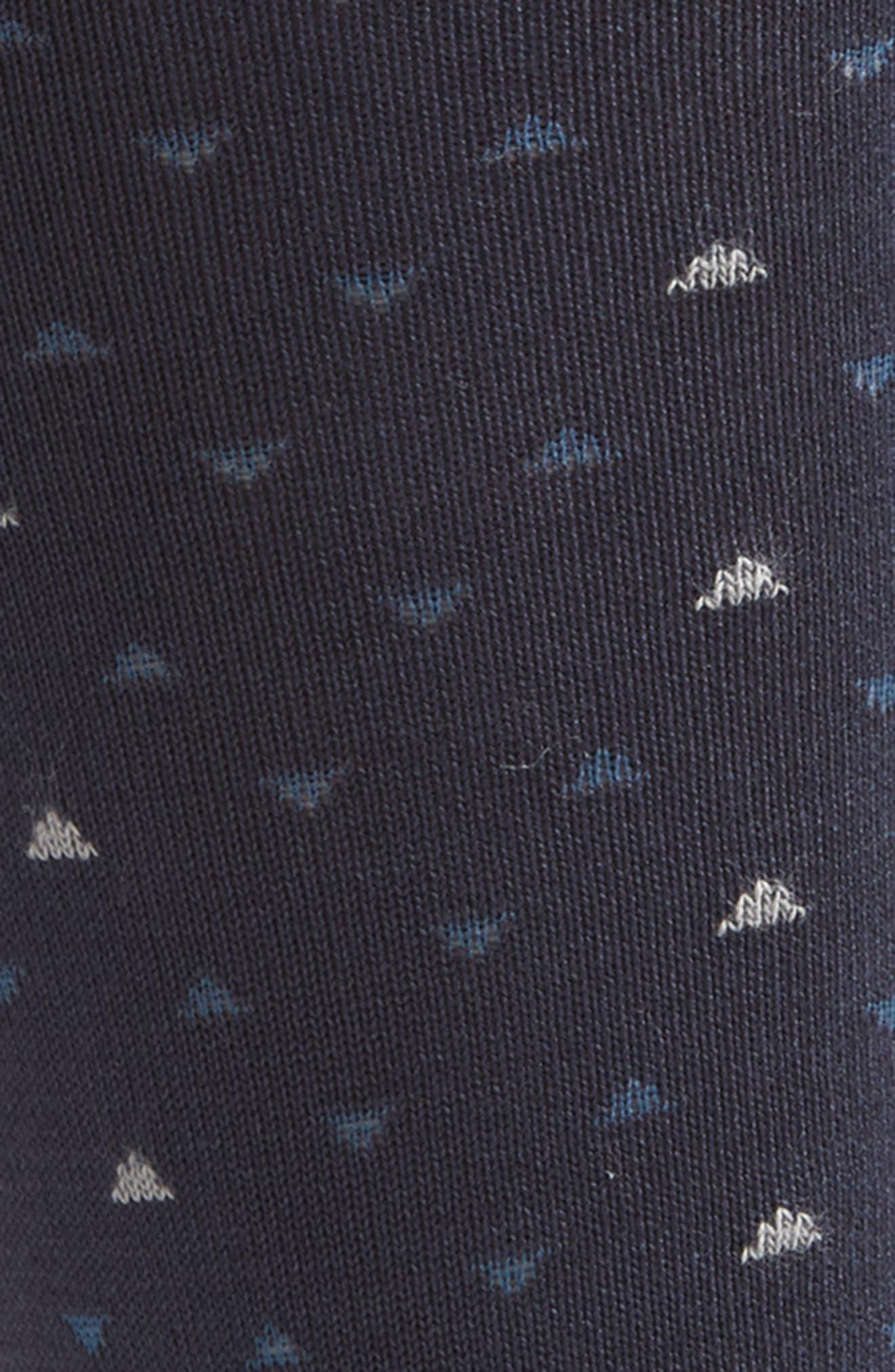 Geometric Socks,                             Alternate thumbnail 2, color,                             Navy/ Taupe