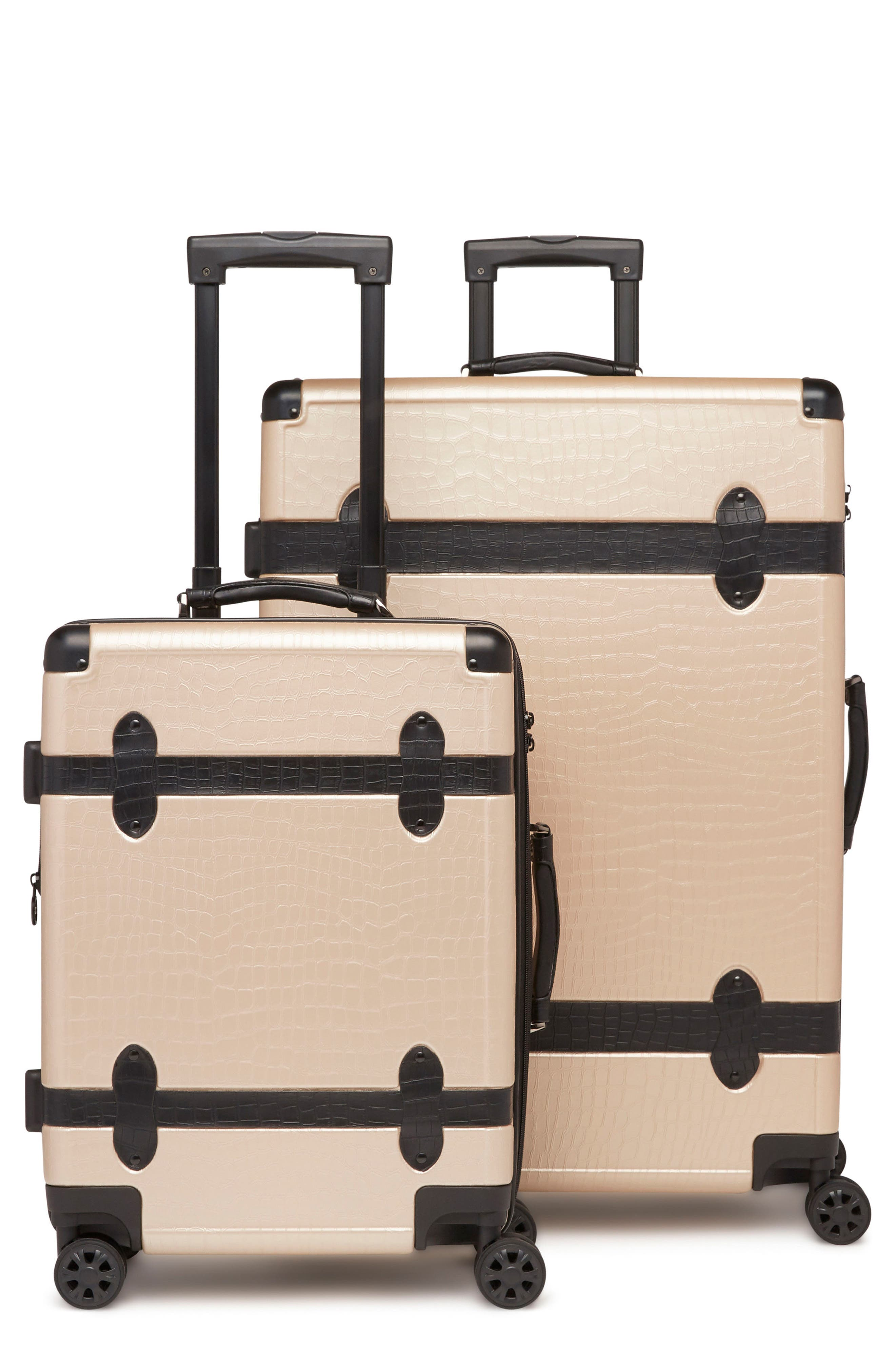 20-Inch & 28-Inch Trunk Rolling Luggage Set,                             Main thumbnail 1, color,                             Nude