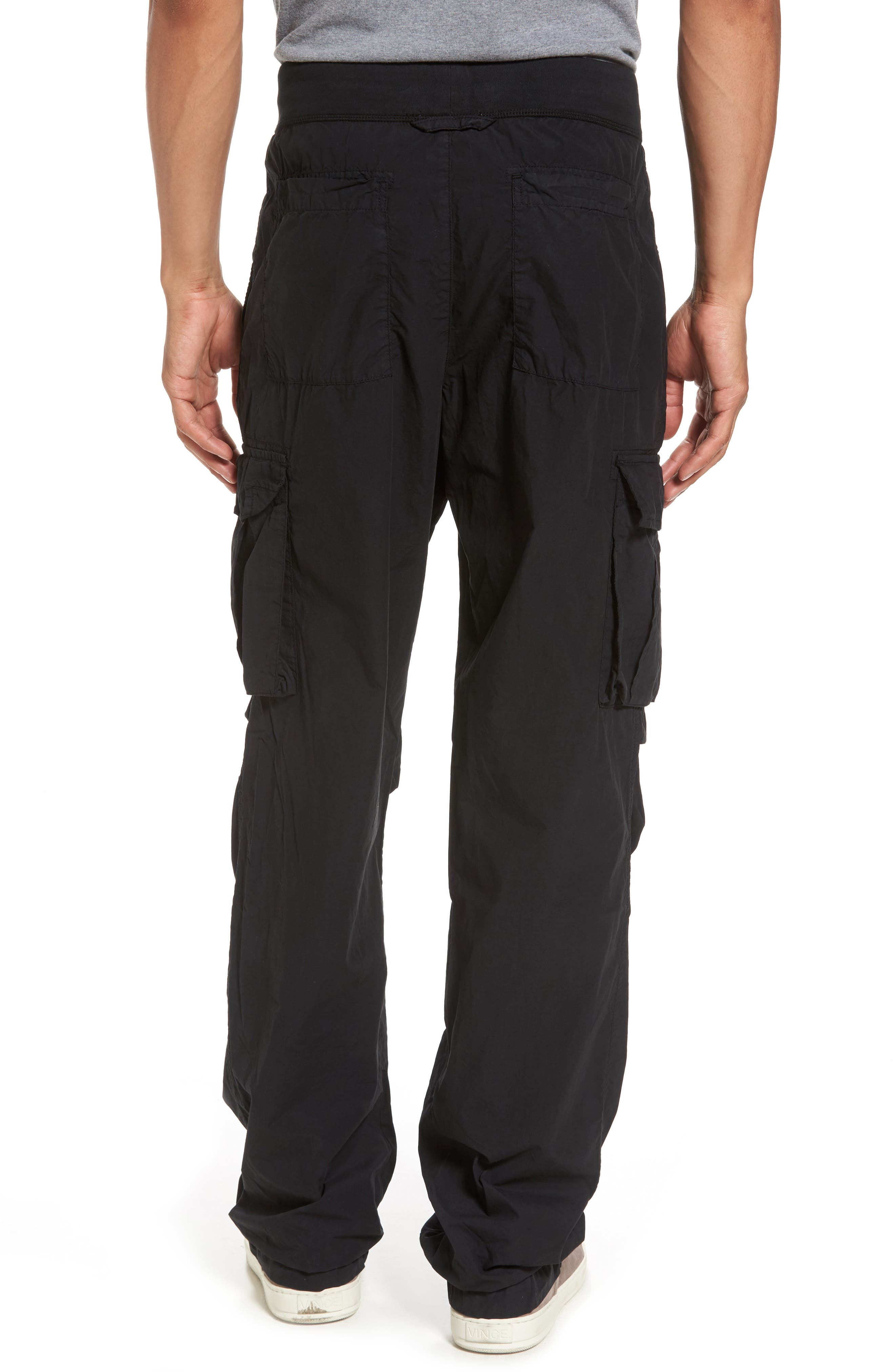Contrast Waist Cargo Pants,                             Alternate thumbnail 2, color,                             Black