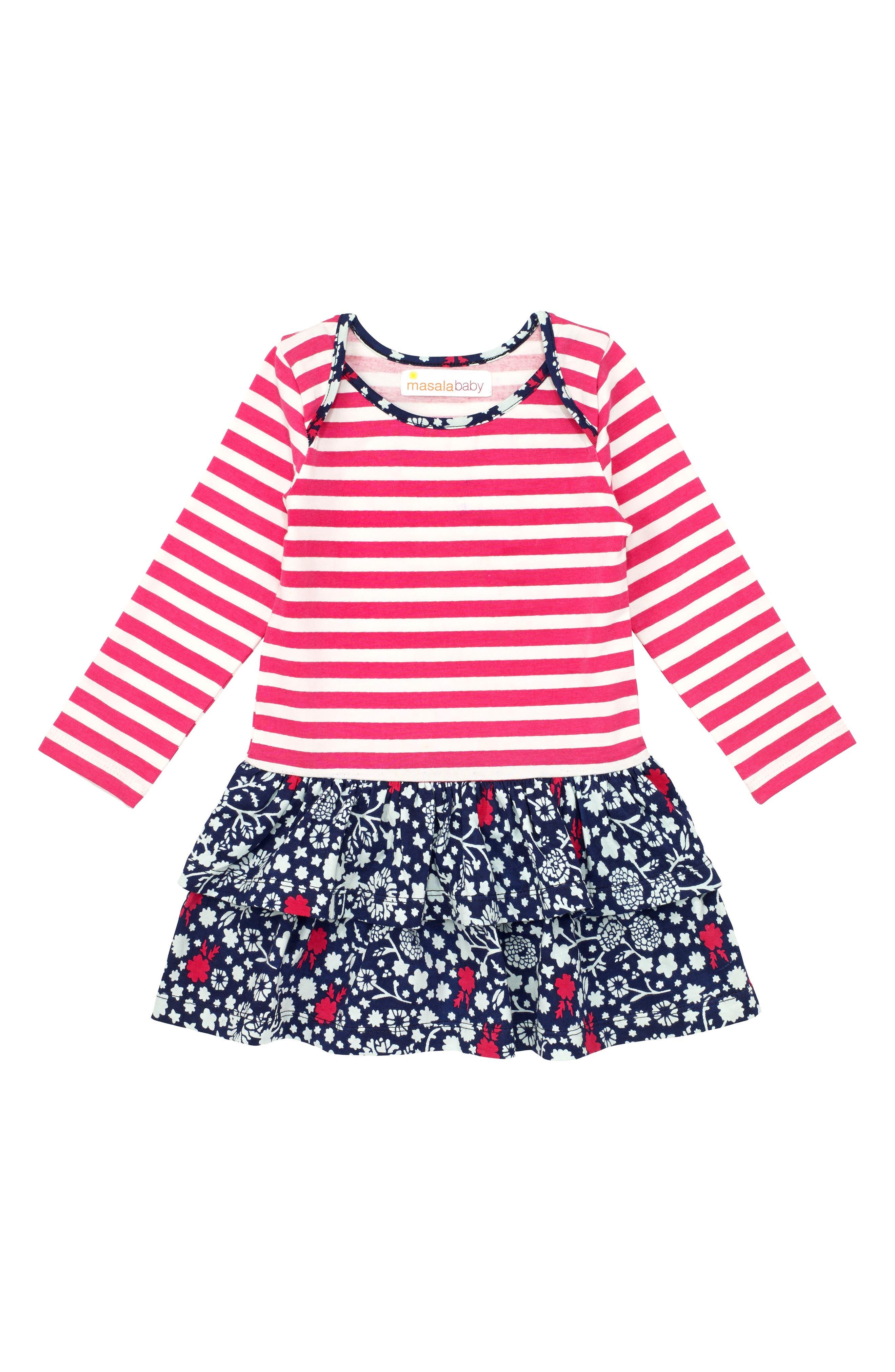 Alternate Image 1 Selected - Masala Baby Belle Organic Cotton Dress (Baby Girls)