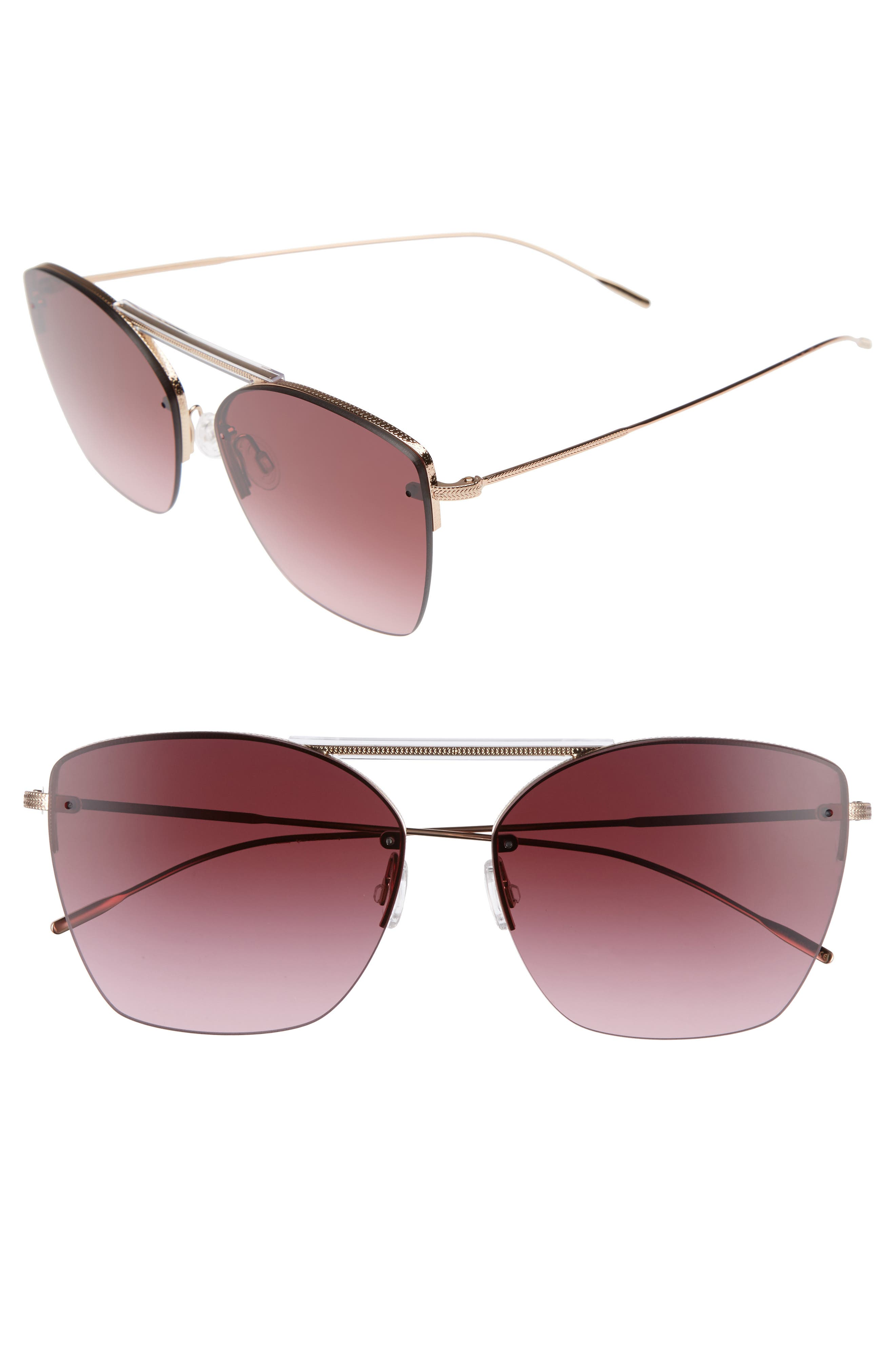 Ziane 61mm Rimless Sunglasses,                         Main,                         color, Marsala