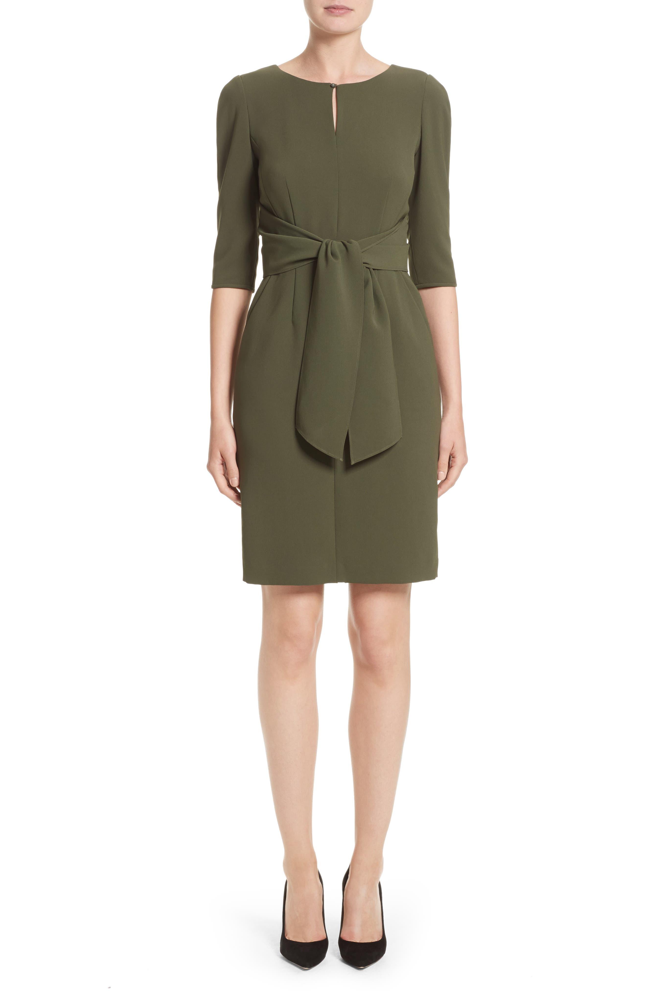 Lafayette 148 Jolie Tie Waist Crepe Dress (Nordstrom Exclusive)