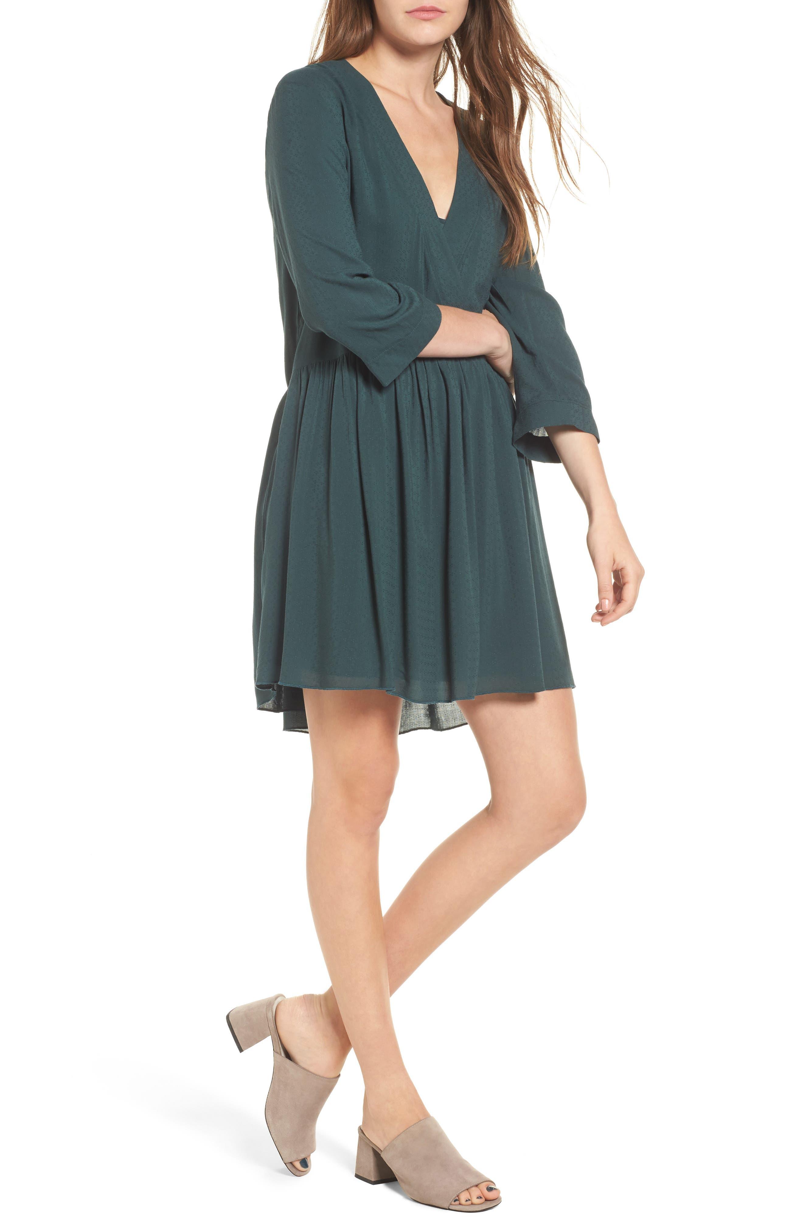 Babydoll Dress,                         Main,                         color, Green Gables