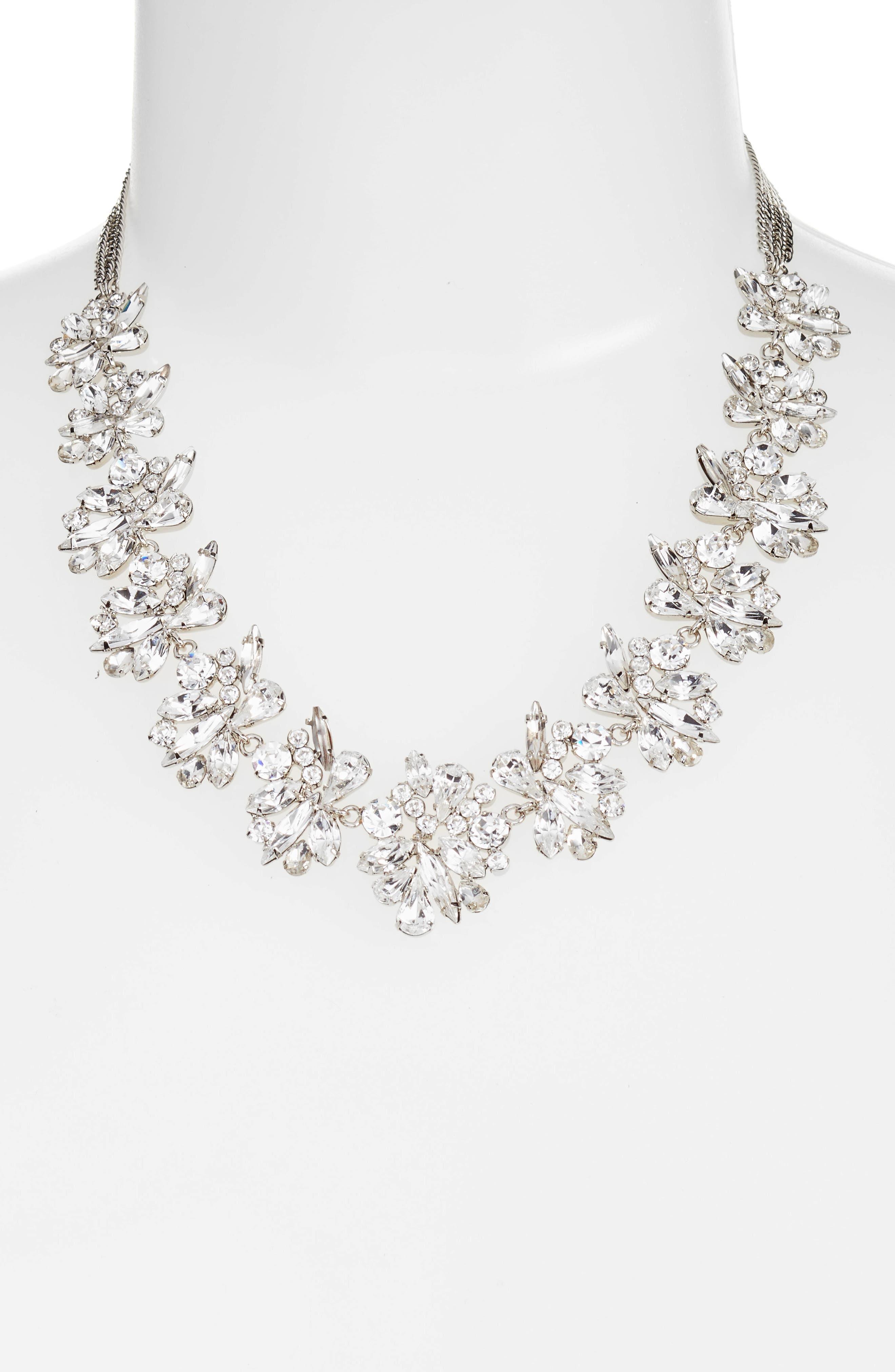 Alternate Image 2  - CRISTABELLE Crystal Collar Necklace