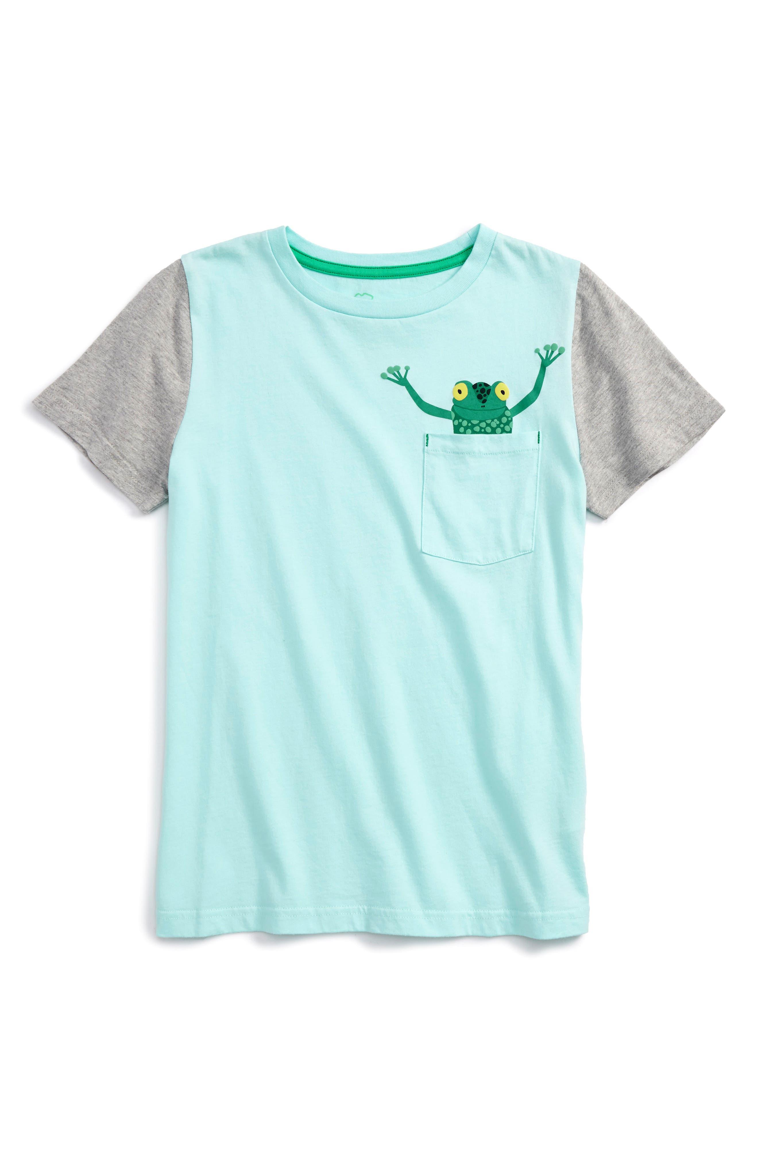 Main Image - Mini Boden Pocket Friends T-Shirt (Toddler Boys, Little Boys & Big Boys)