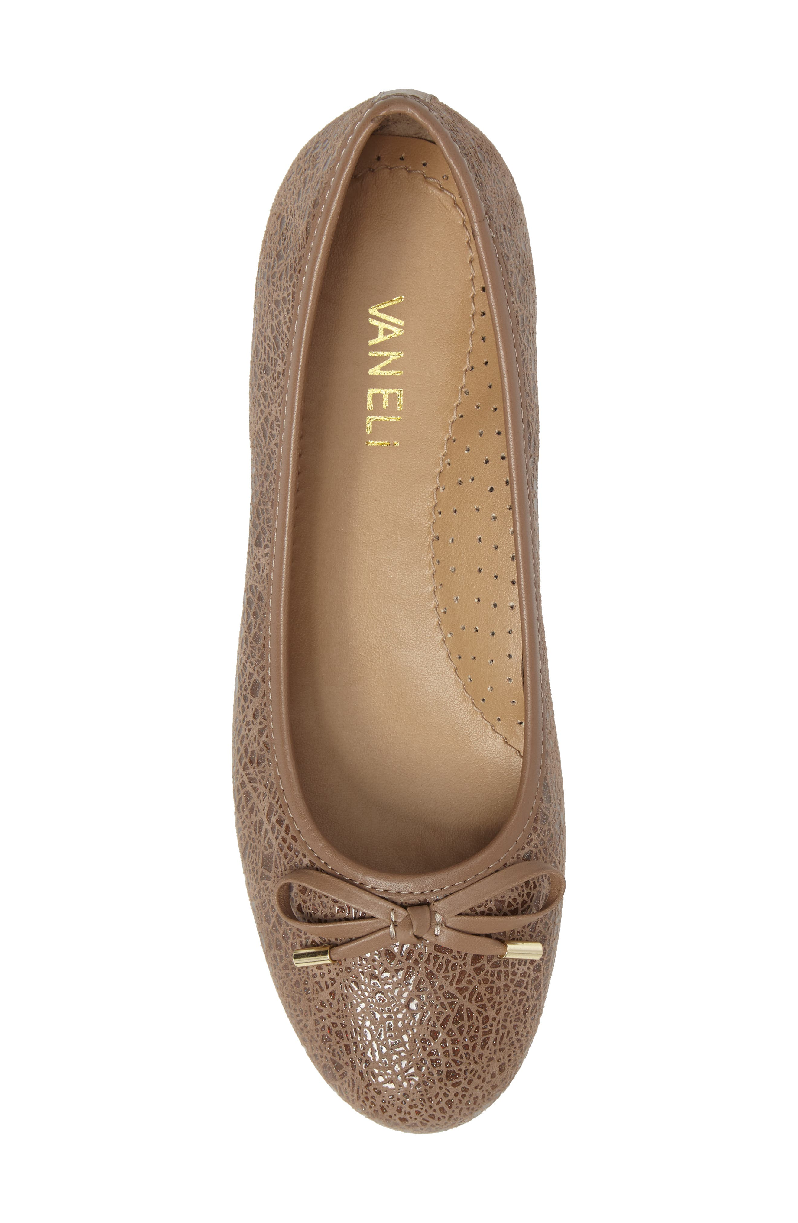 'Signy' Ballet Flat,                             Alternate thumbnail 5, color,                             Taupe Print Leather