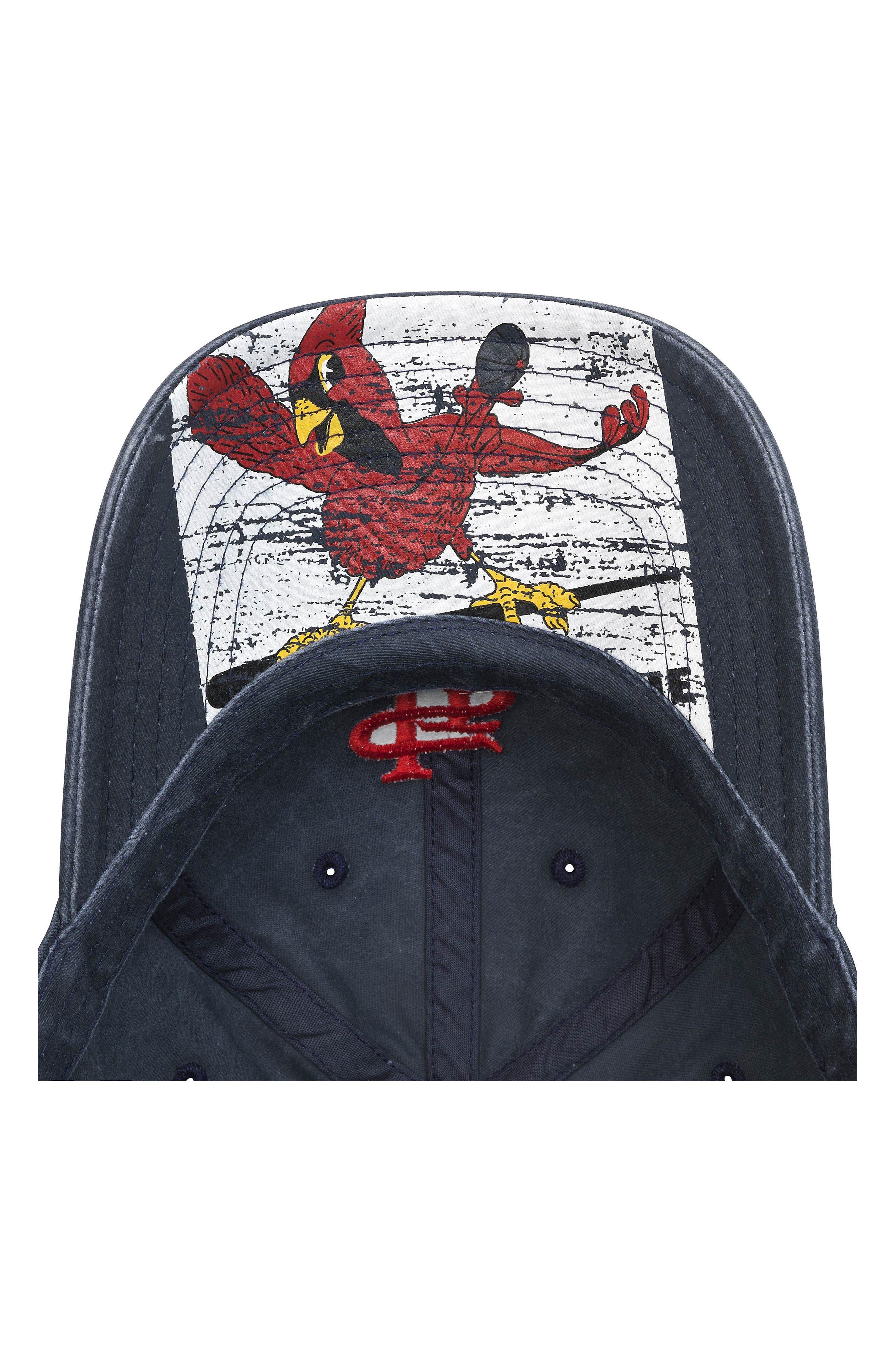 New Raglan St. Louis Cardinals Baseball Cap,                             Alternate thumbnail 3, color,                             Navy
