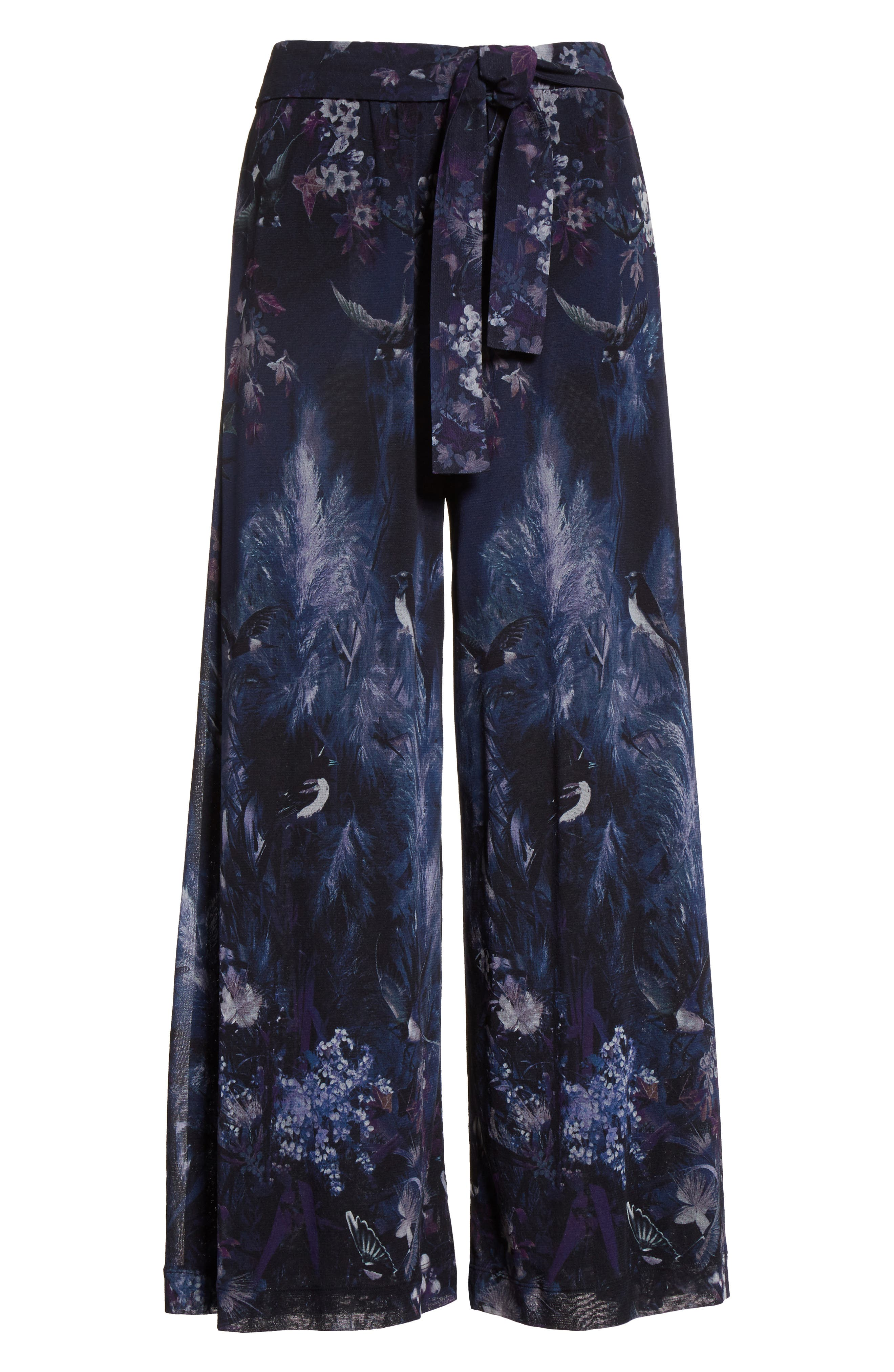Alternate Image 4  - Fuzzi Floral Print Tulle Belted Karate Pants