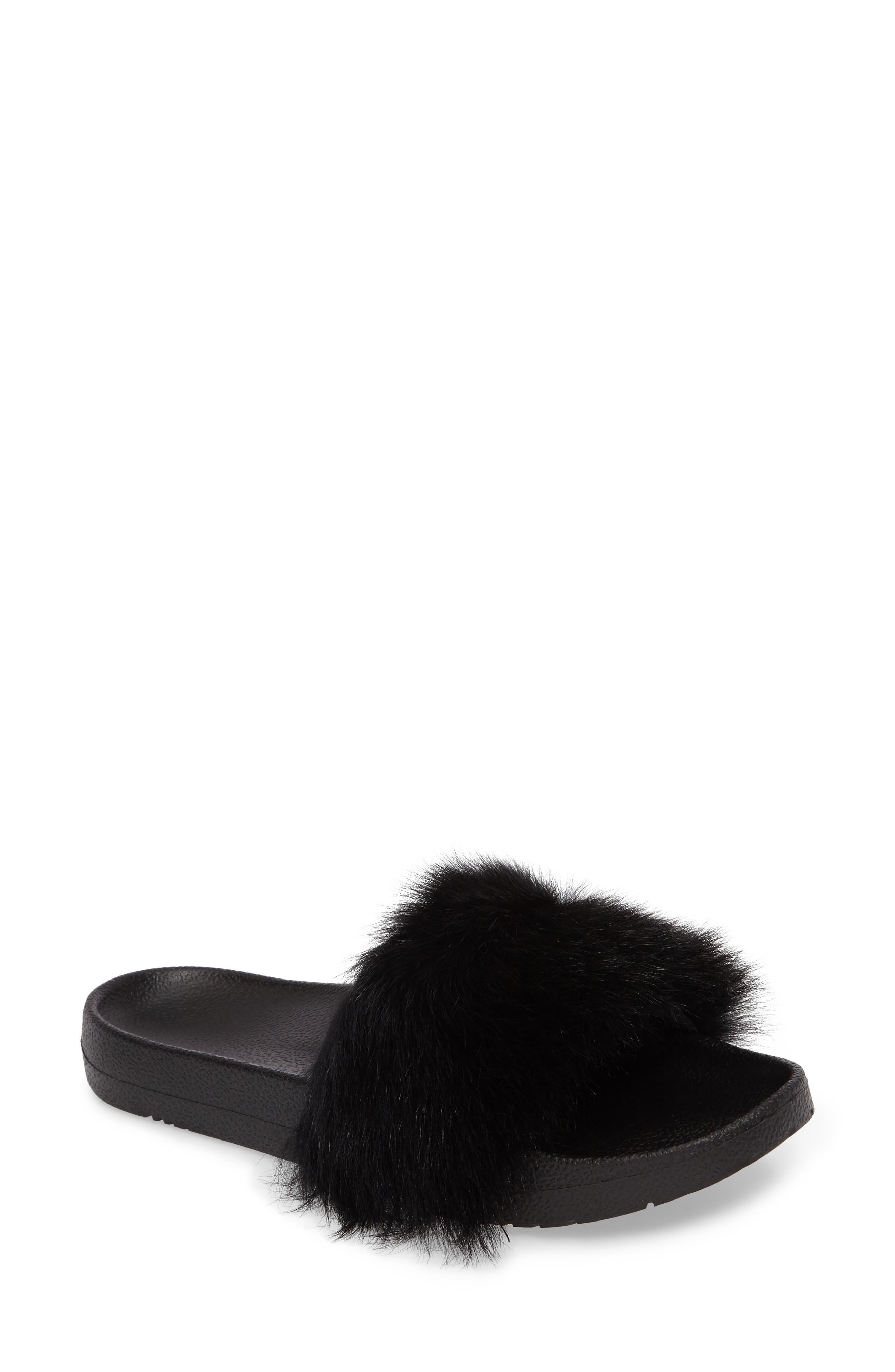 UGG® Royale Genuine Shearling Slide Sandal (Women)