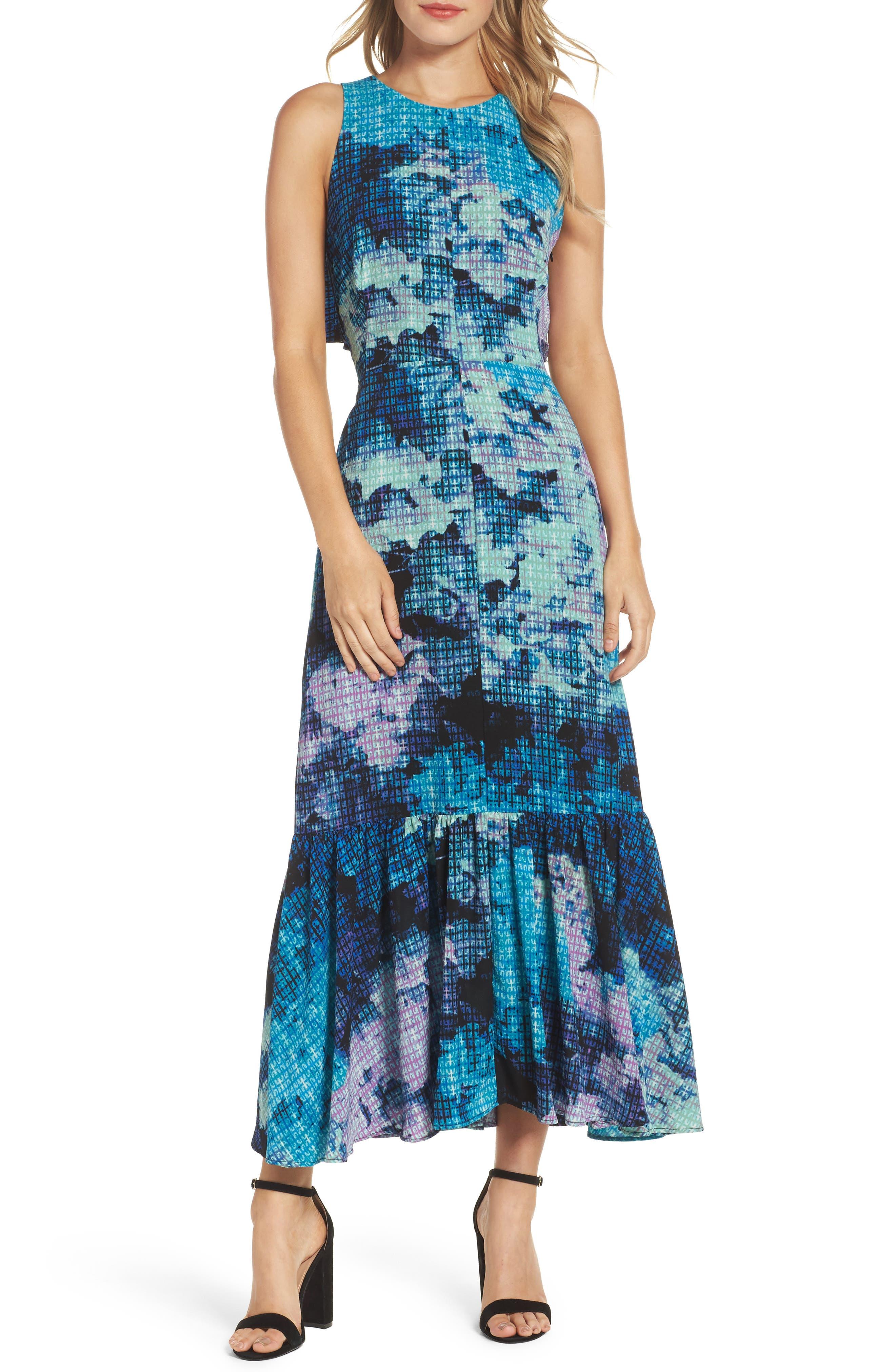 MAGGY LONDON Print Maxi Dress