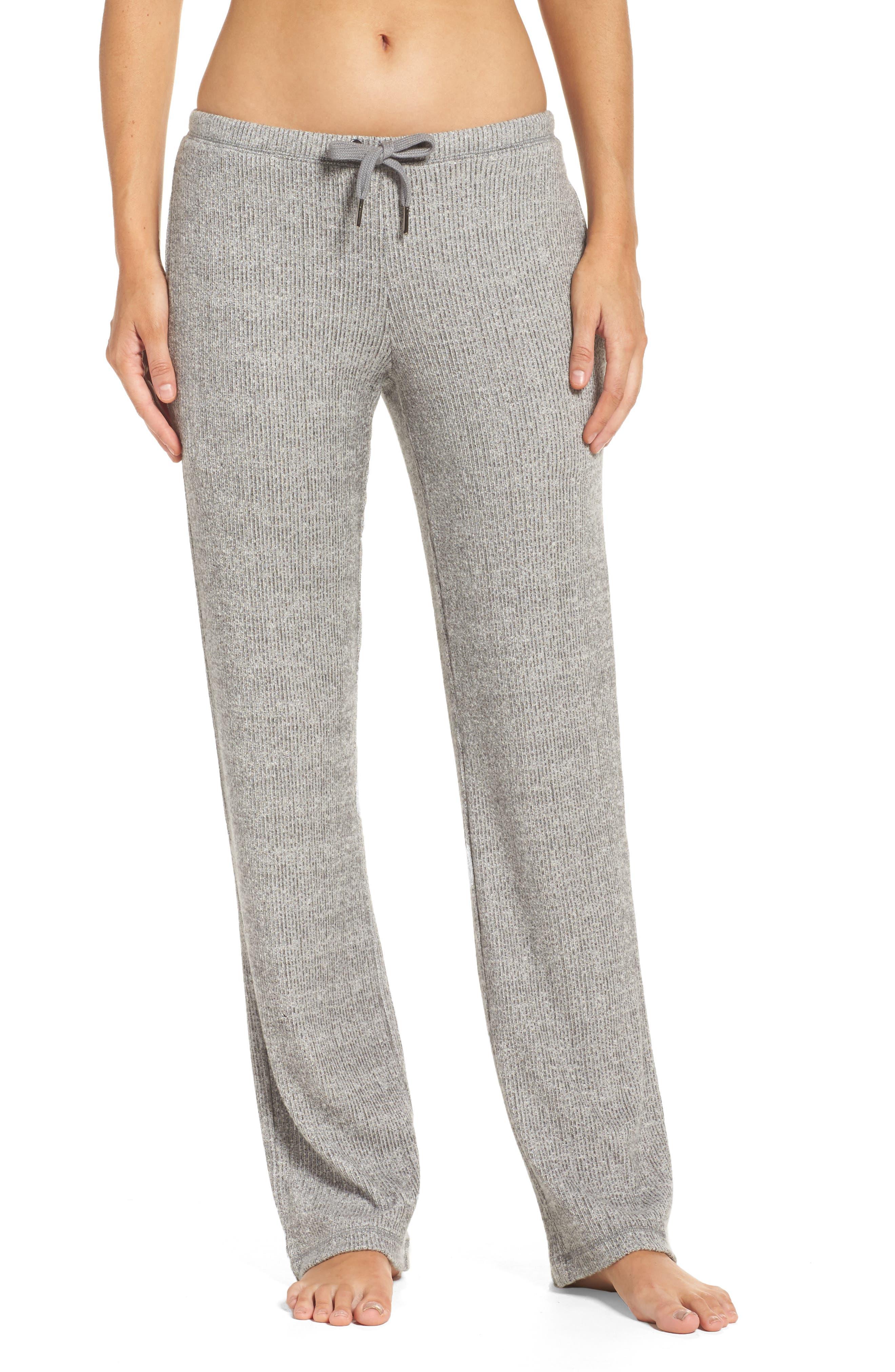 Knit Lounge Pants,                             Main thumbnail 1, color,                             Grey