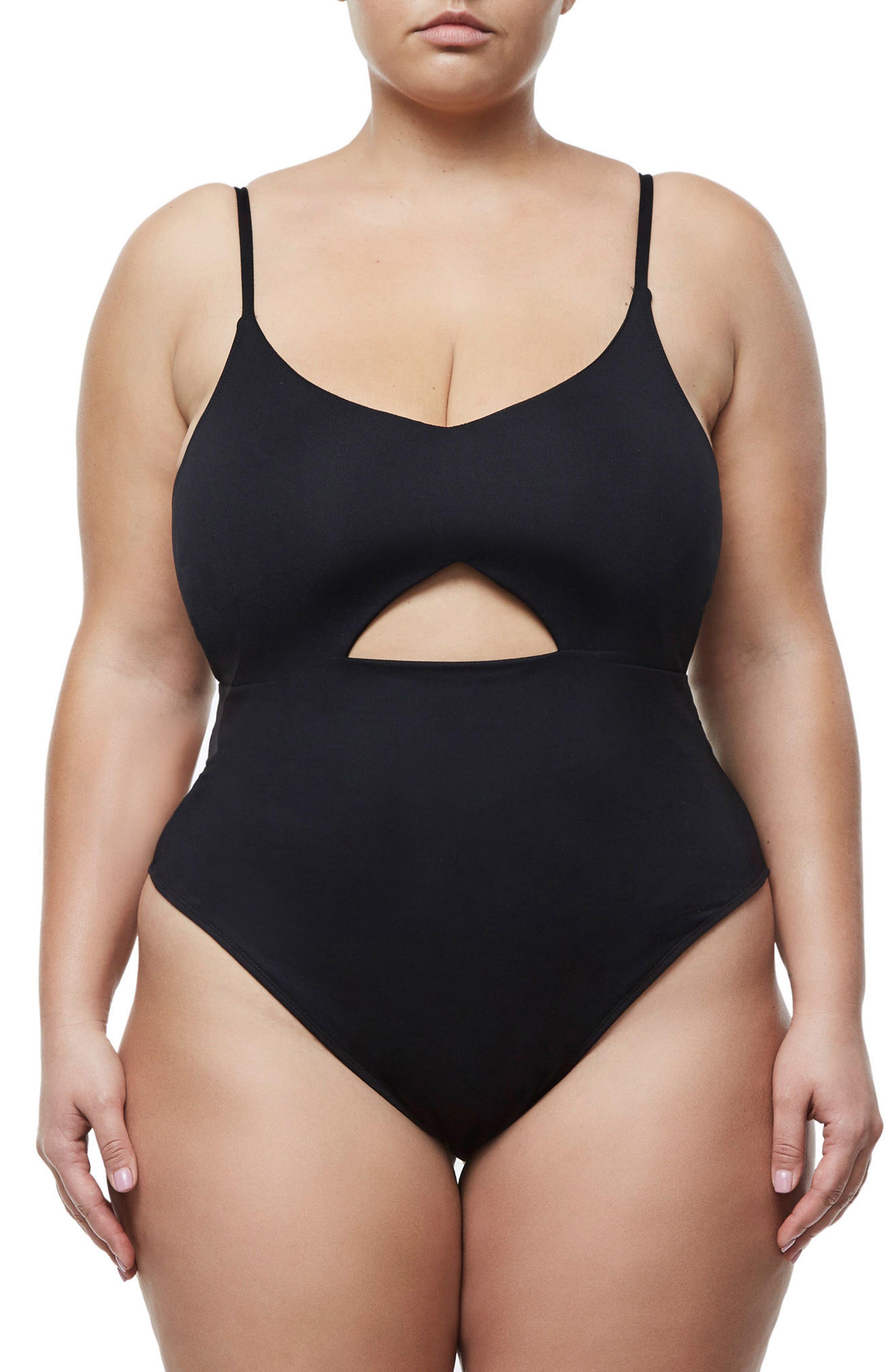Alternate Image 5  - Good Body Cami Cutout Bodysuit (Regular & Plus Size)