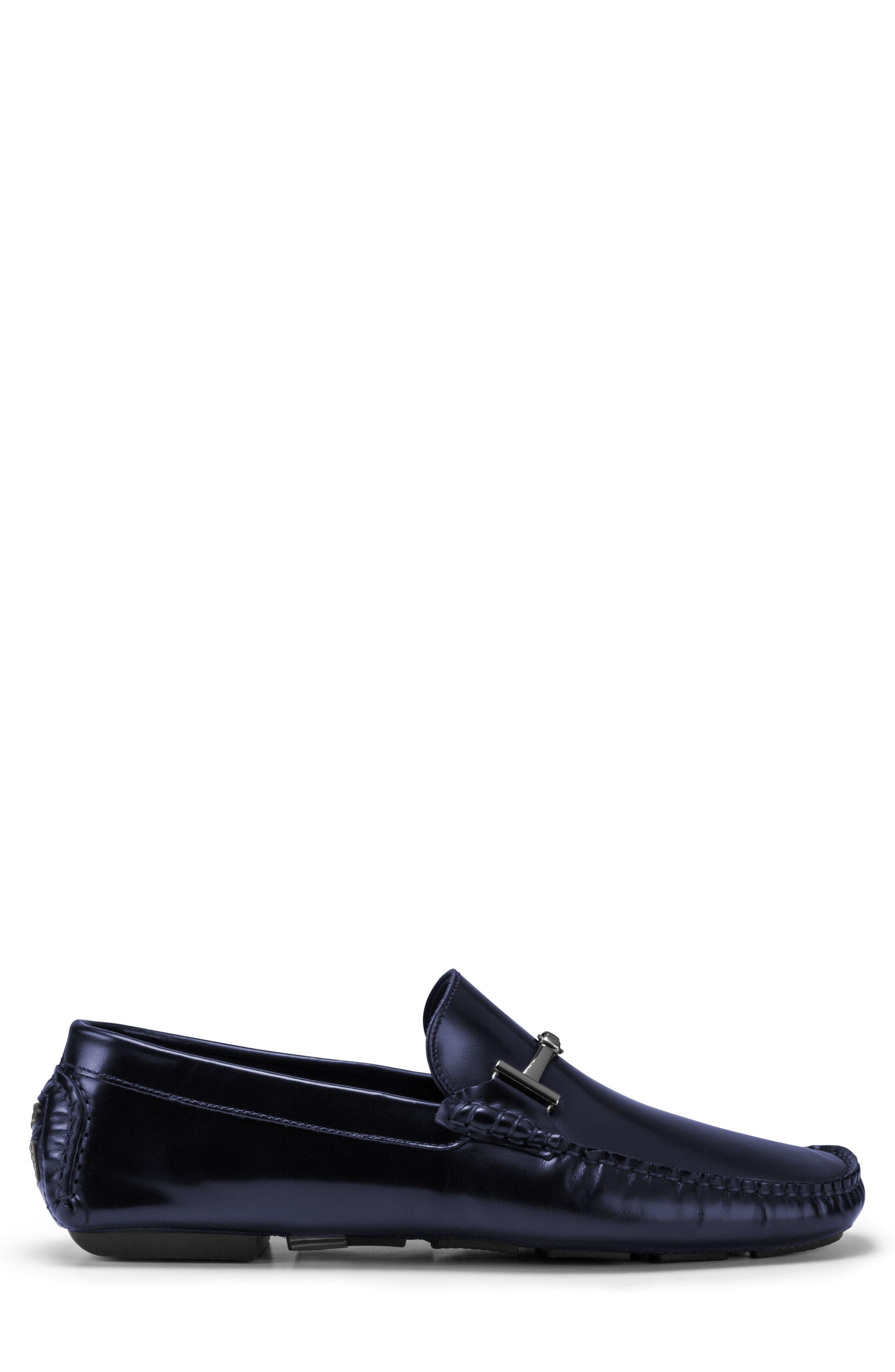 St. Tropez Driving Shoe,                             Alternate thumbnail 3, color,                             Blue Leather