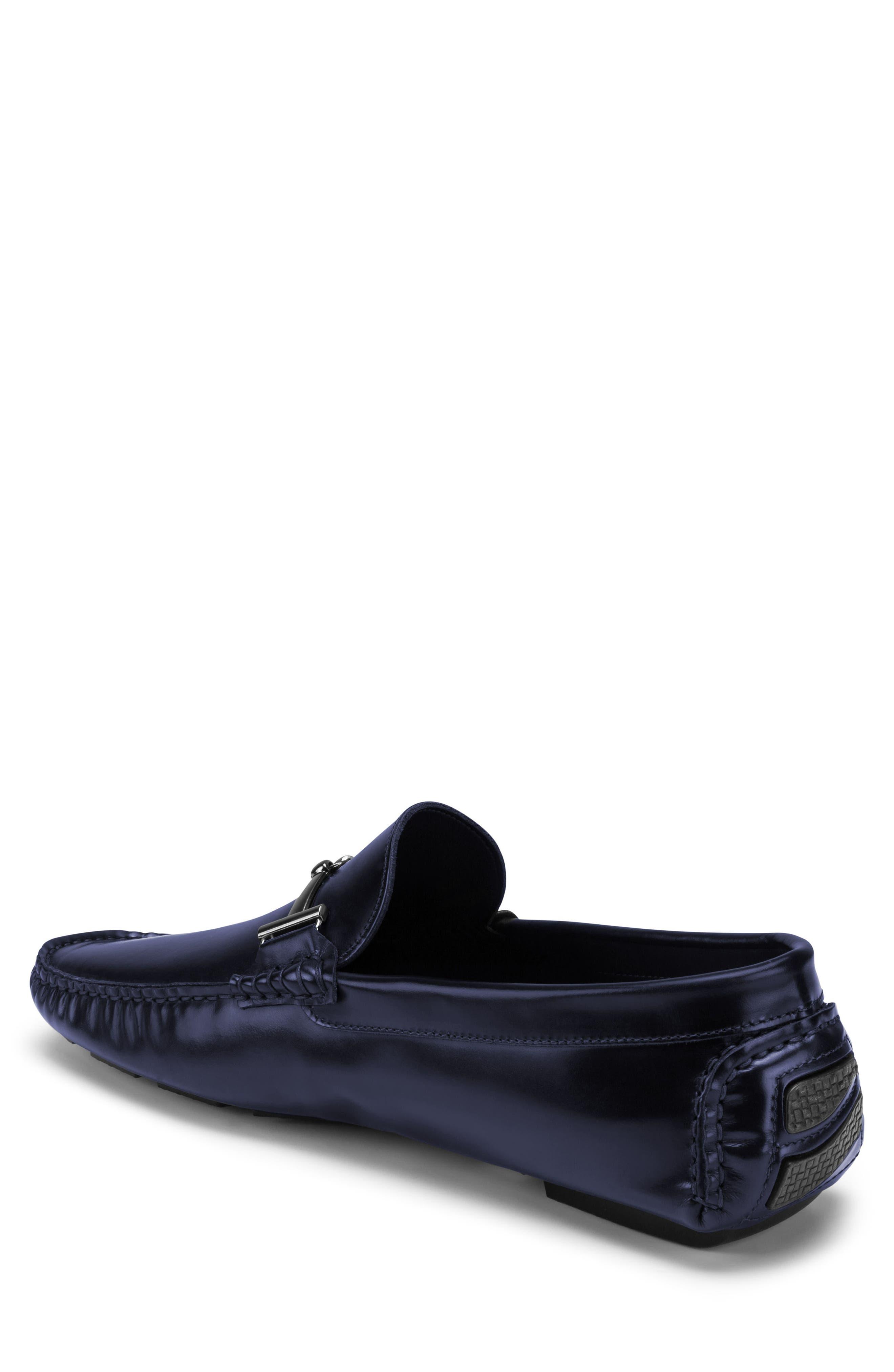 St. Tropez Driving Shoe,                             Alternate thumbnail 2, color,                             Blue Leather