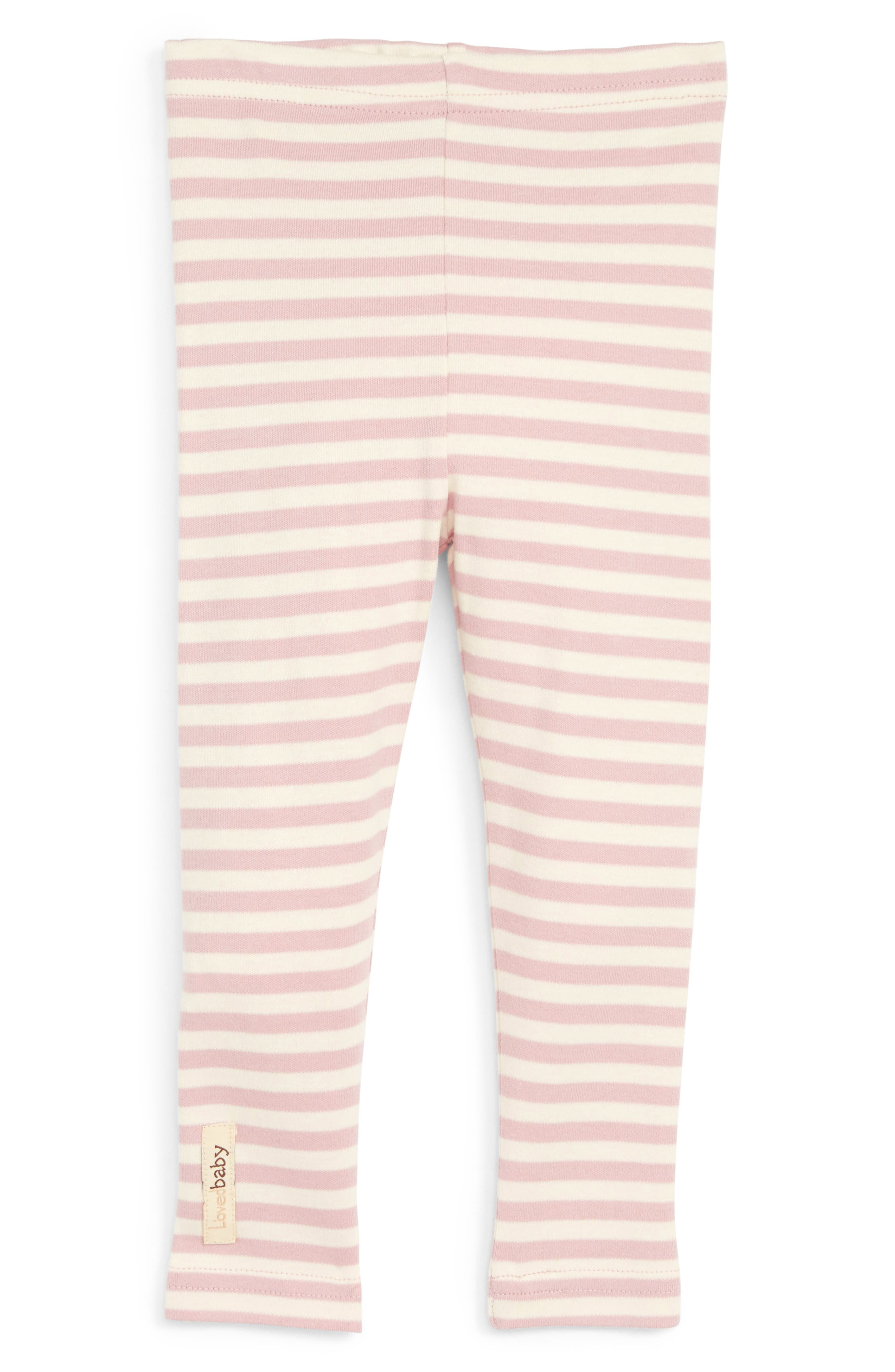 Organic Cotton Leggings,                         Main,                         color, Mauve/ Beige
