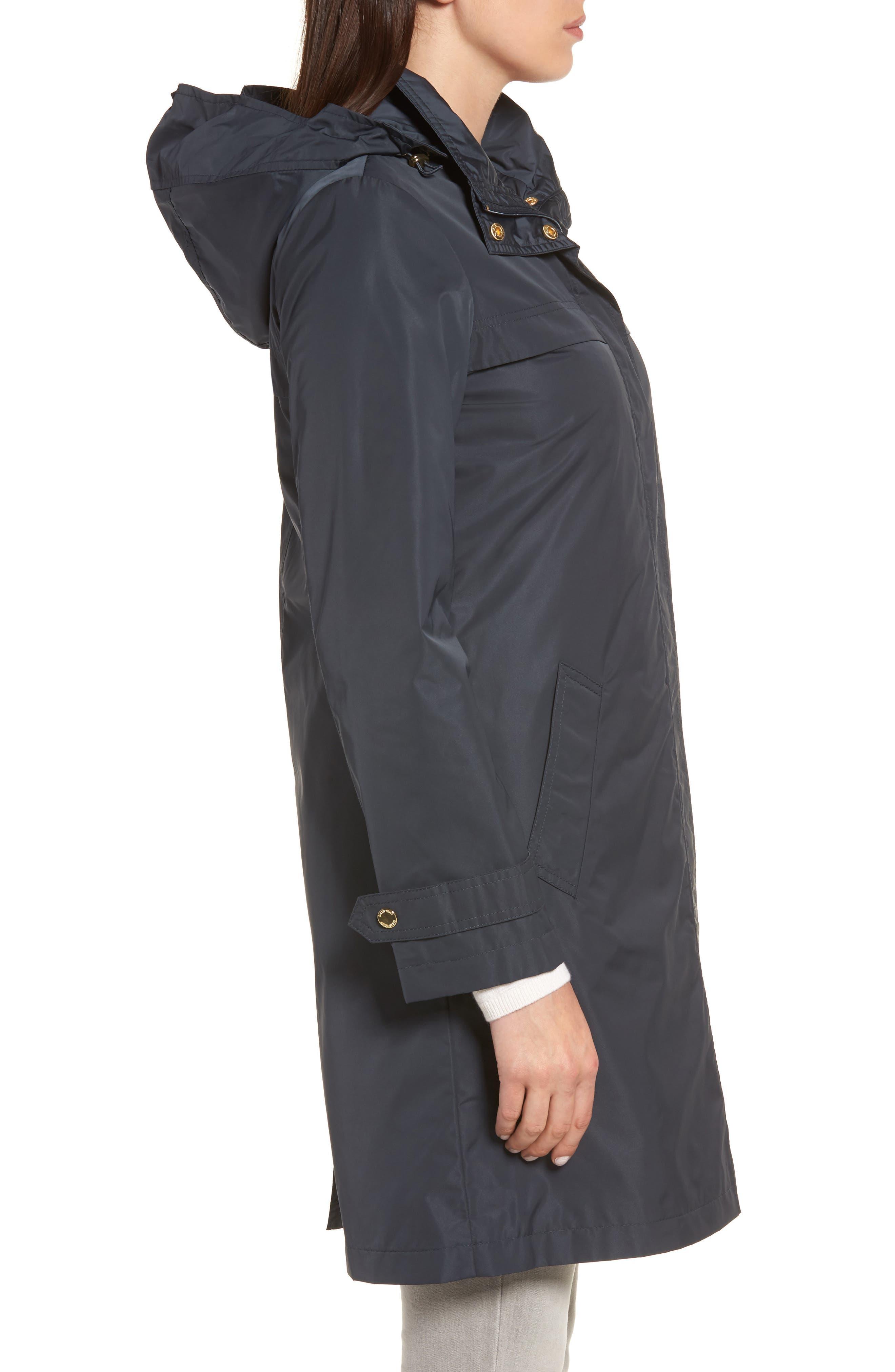 Raincoat with Detachable Hood,                             Alternate thumbnail 3, color,                             Navy