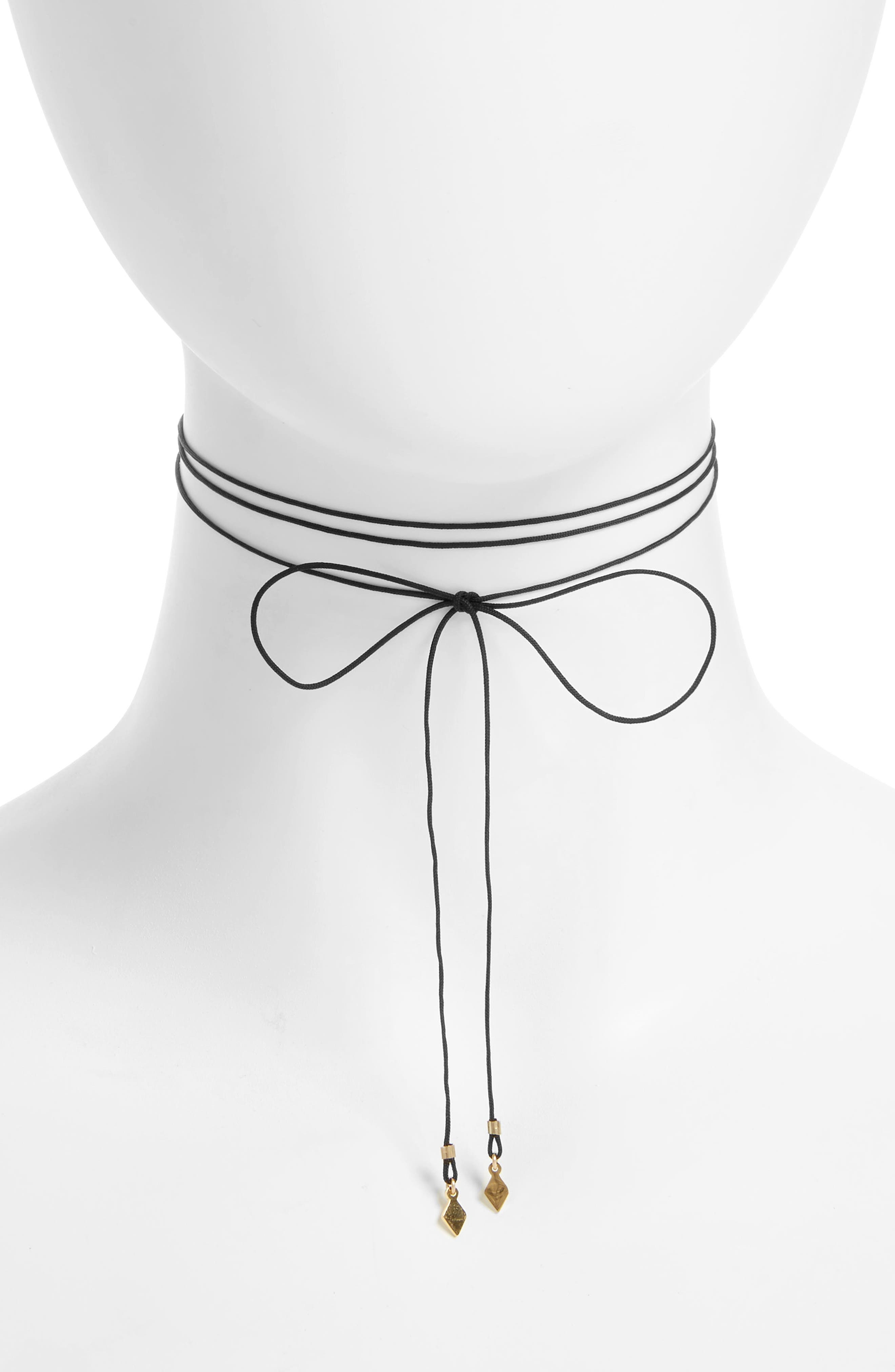 Seoul Little Maive Tiny Double Diamond Bow Tie Choker