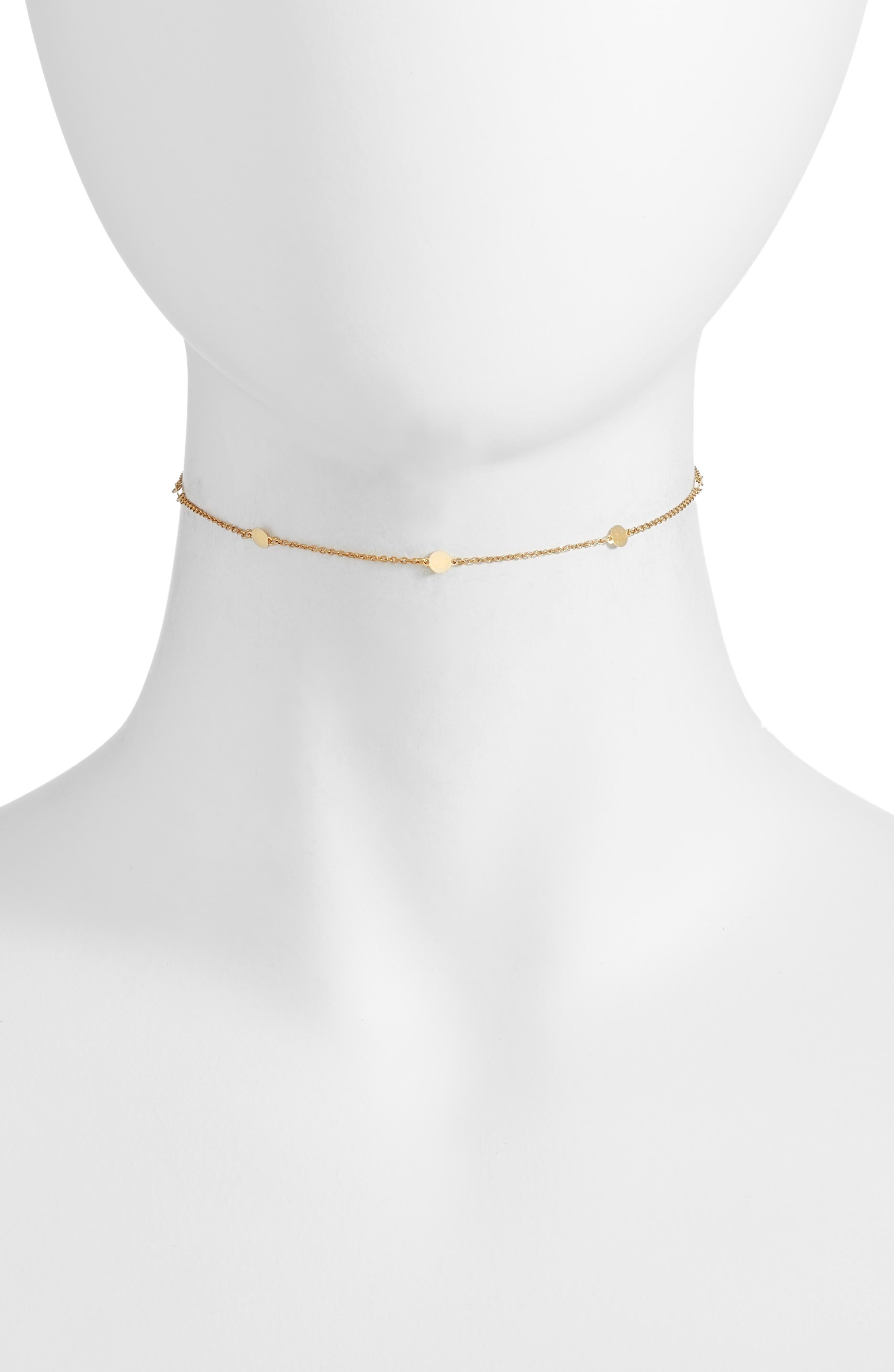Argento Vivo Station Choker Necklace