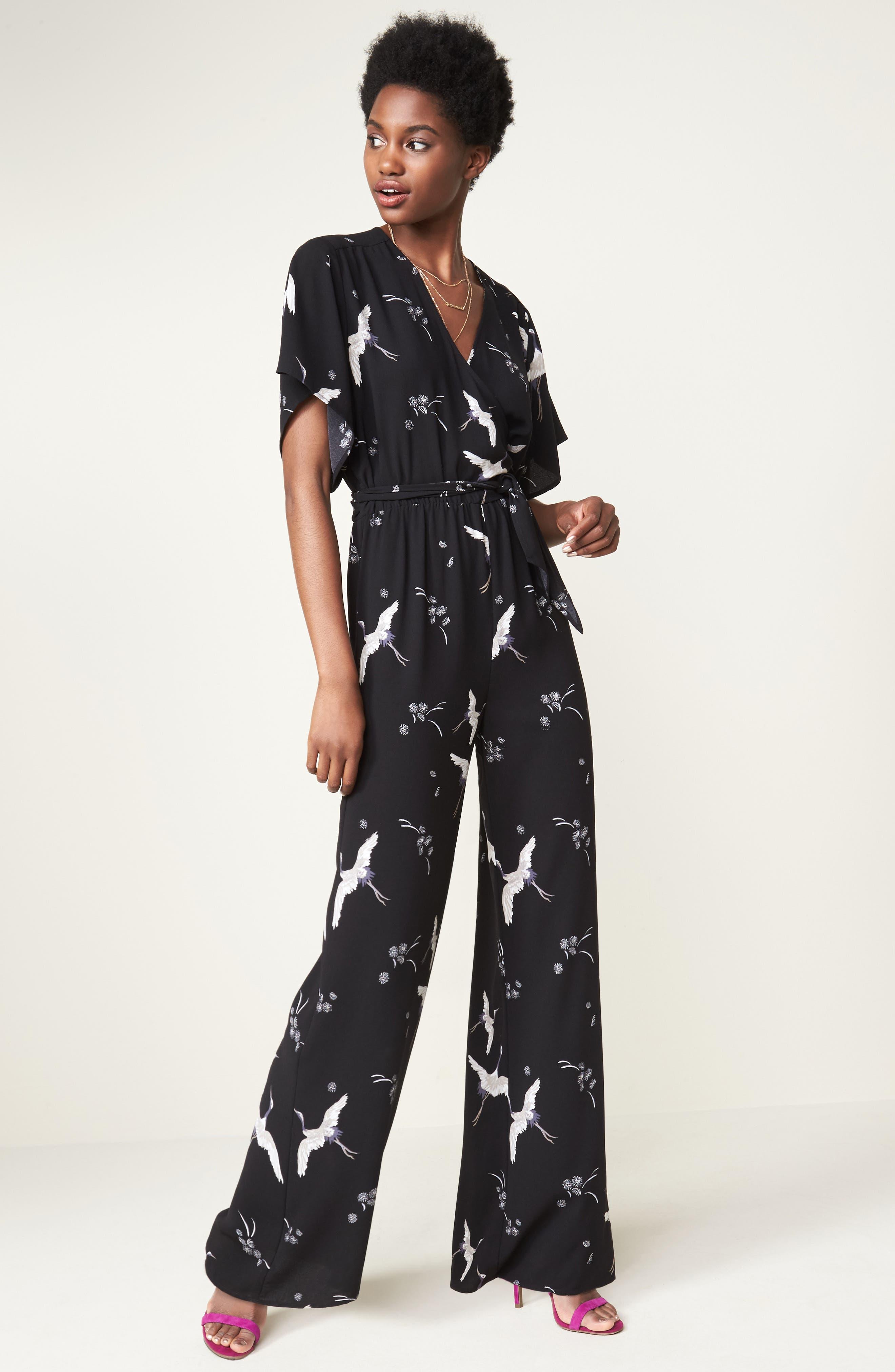 Alternate Image 2  - Leith Kimono Wrap Jumpsuit