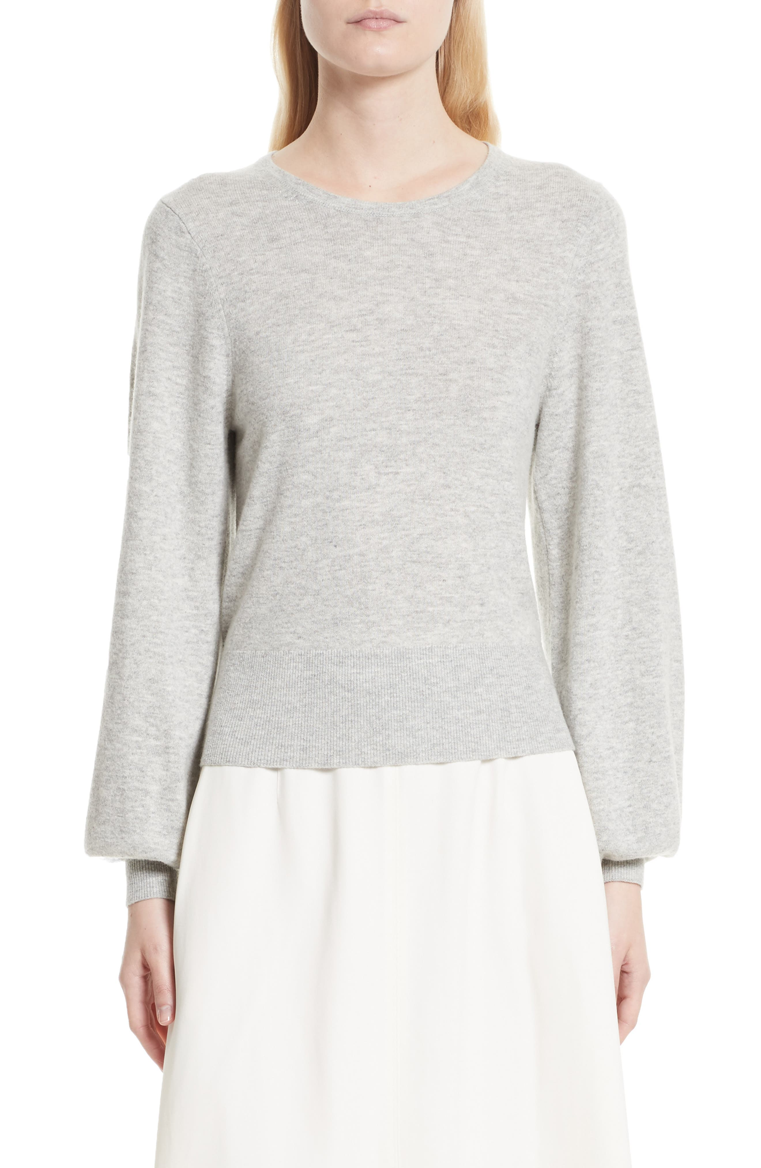 Bretta Sweater,                         Main,                         color, Heather Grey