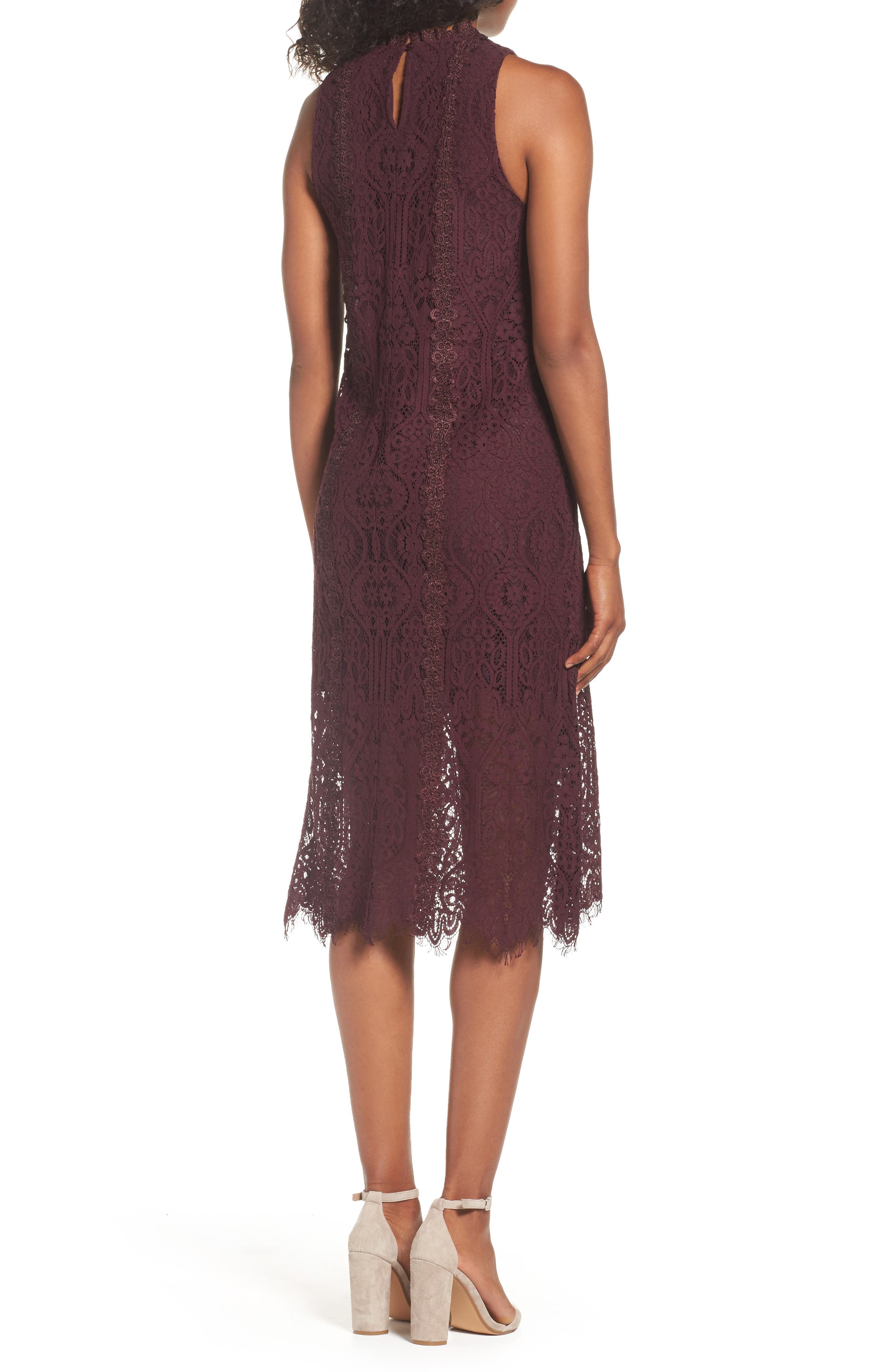 Alternate Image 3  - Chelsea28 Lace Pleated Midi Dress