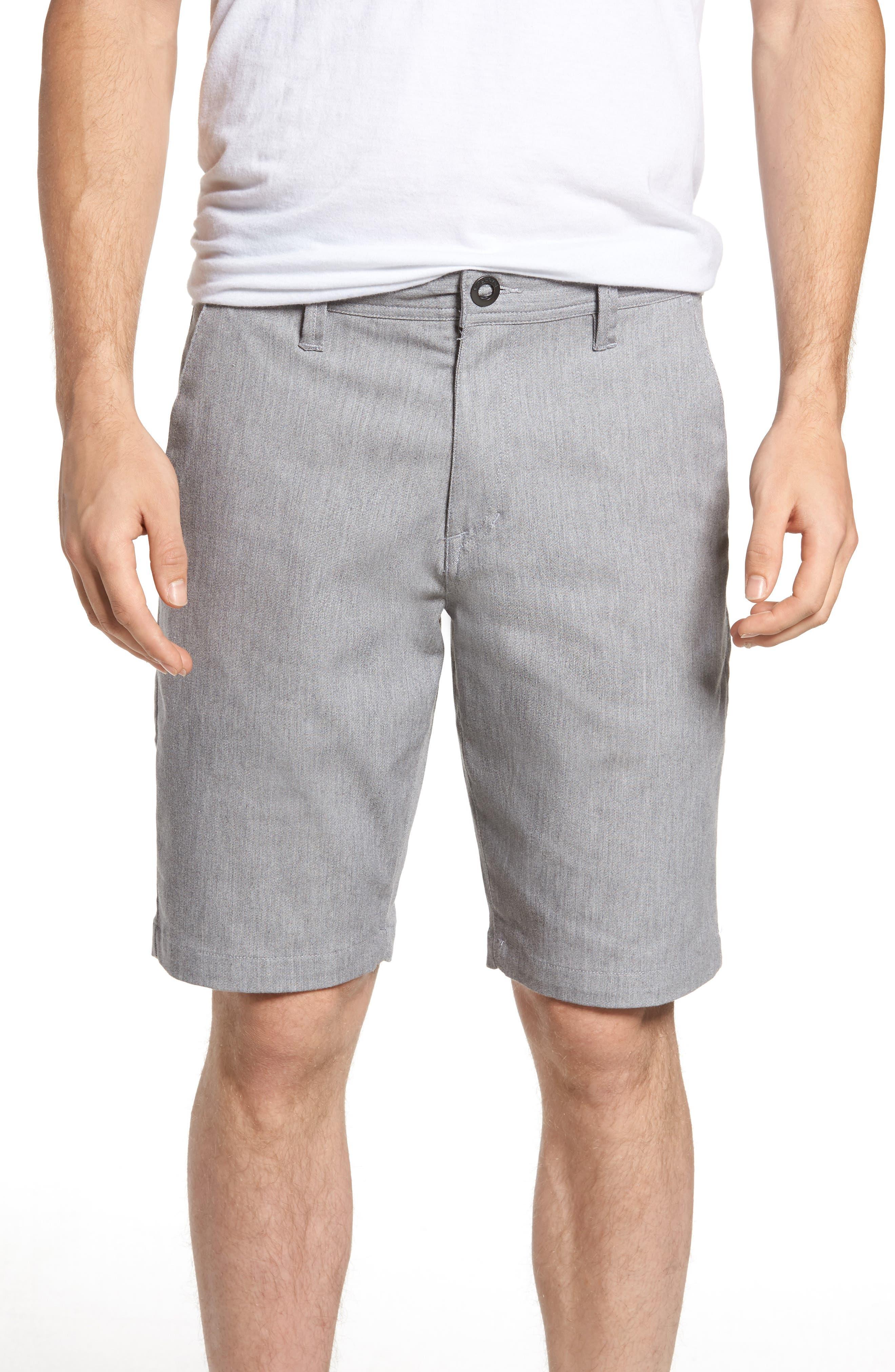 'Modern' Stretch Chino Shorts,                             Main thumbnail 1, color,                             Grey
