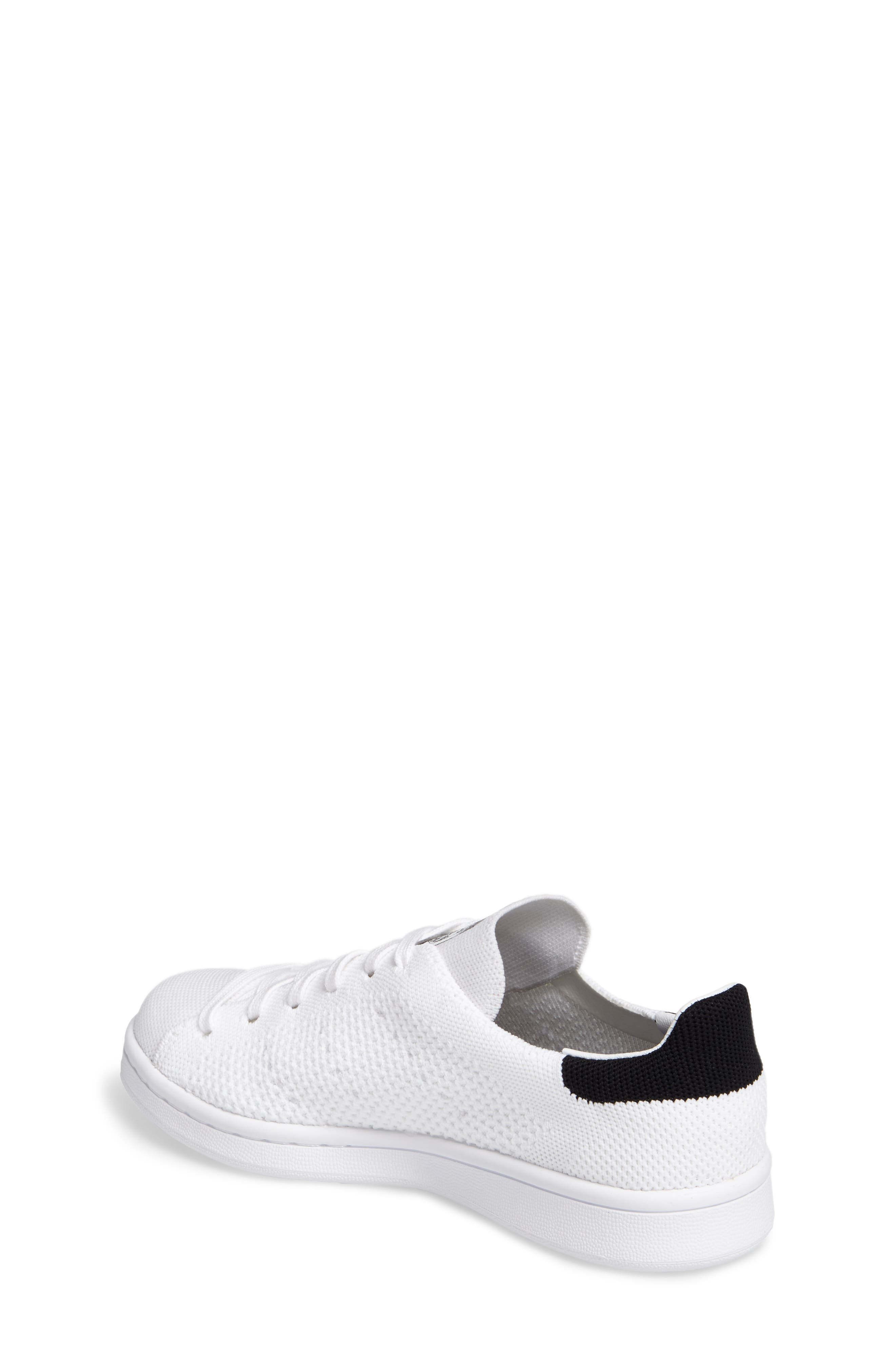 Stan Smith Primeknit Sneaker,                             Alternate thumbnail 2, color,                             Footwear White