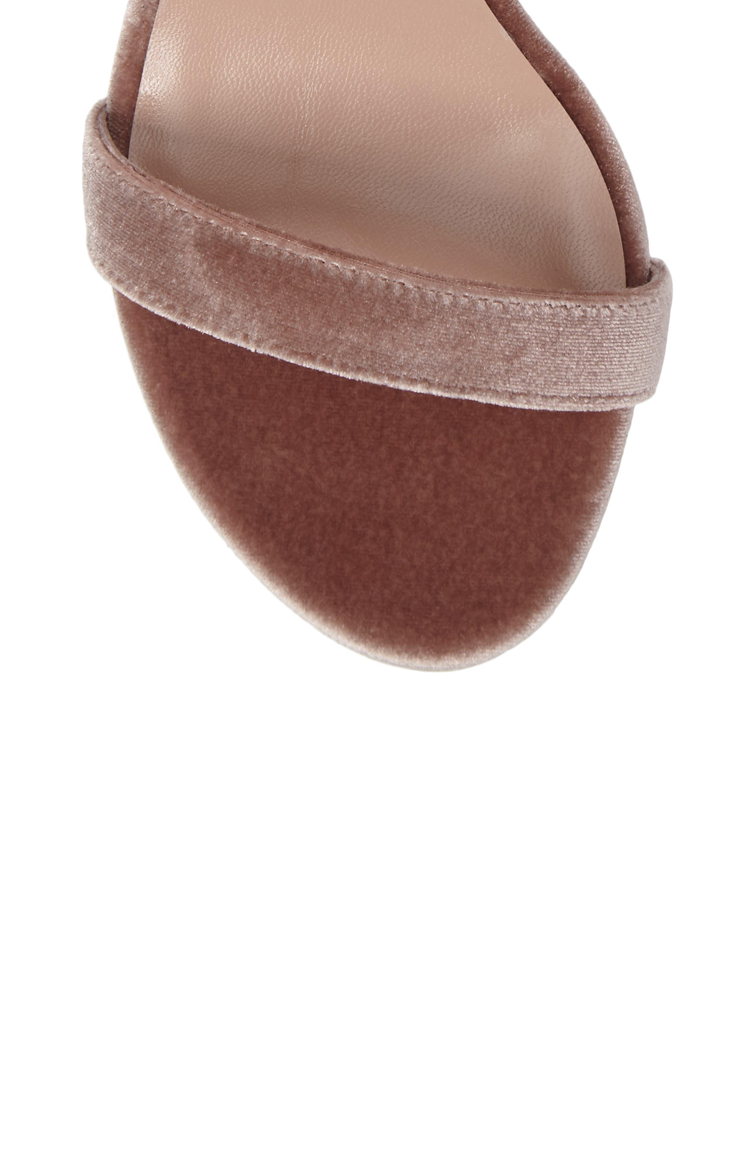 NearlyNude Ankle Strap Sandal,                             Alternate thumbnail 4, color,                             Candy Velvet
