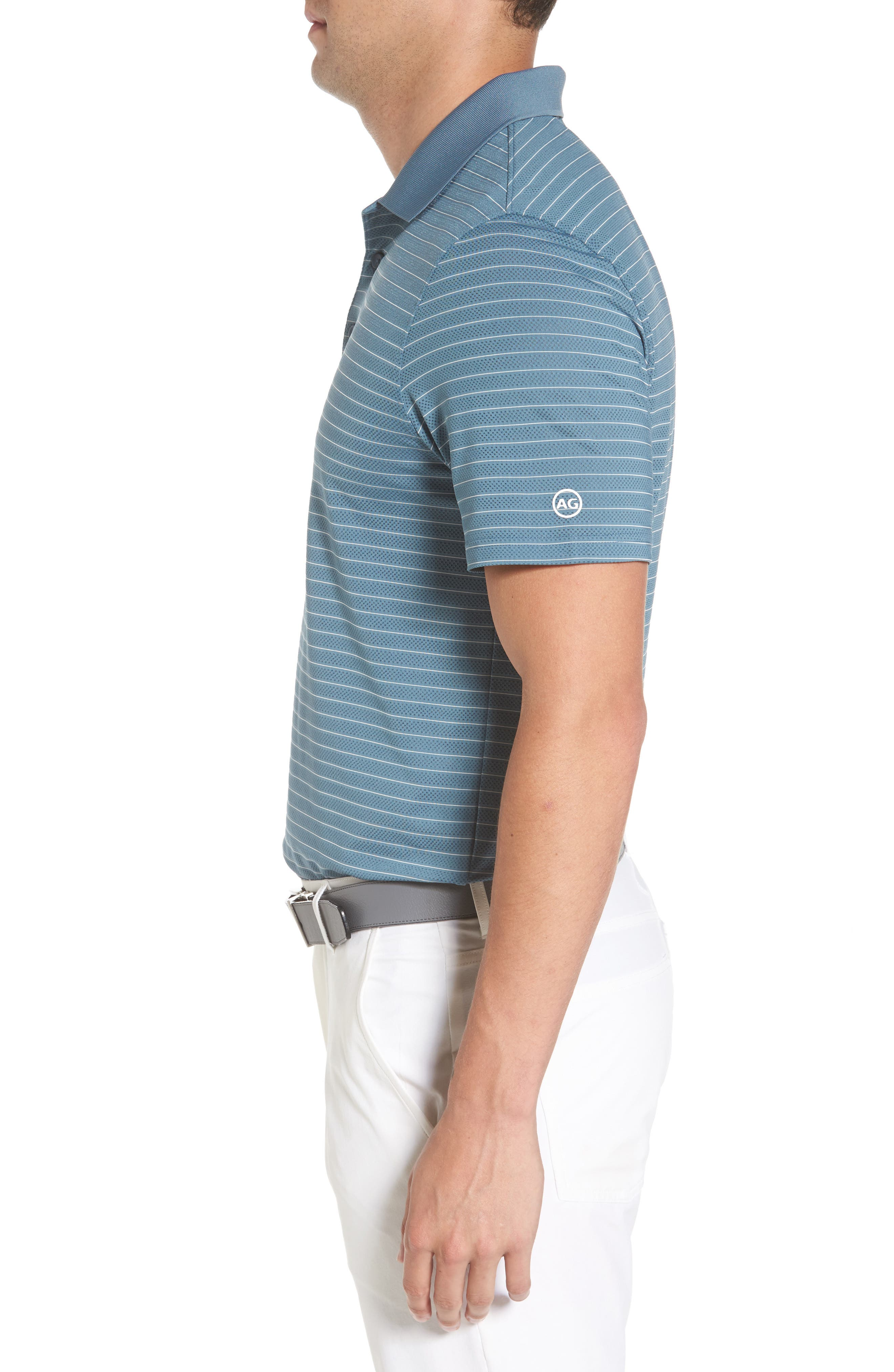 Trexler Stripe Polo,                             Alternate thumbnail 3, color,                             Blue Print