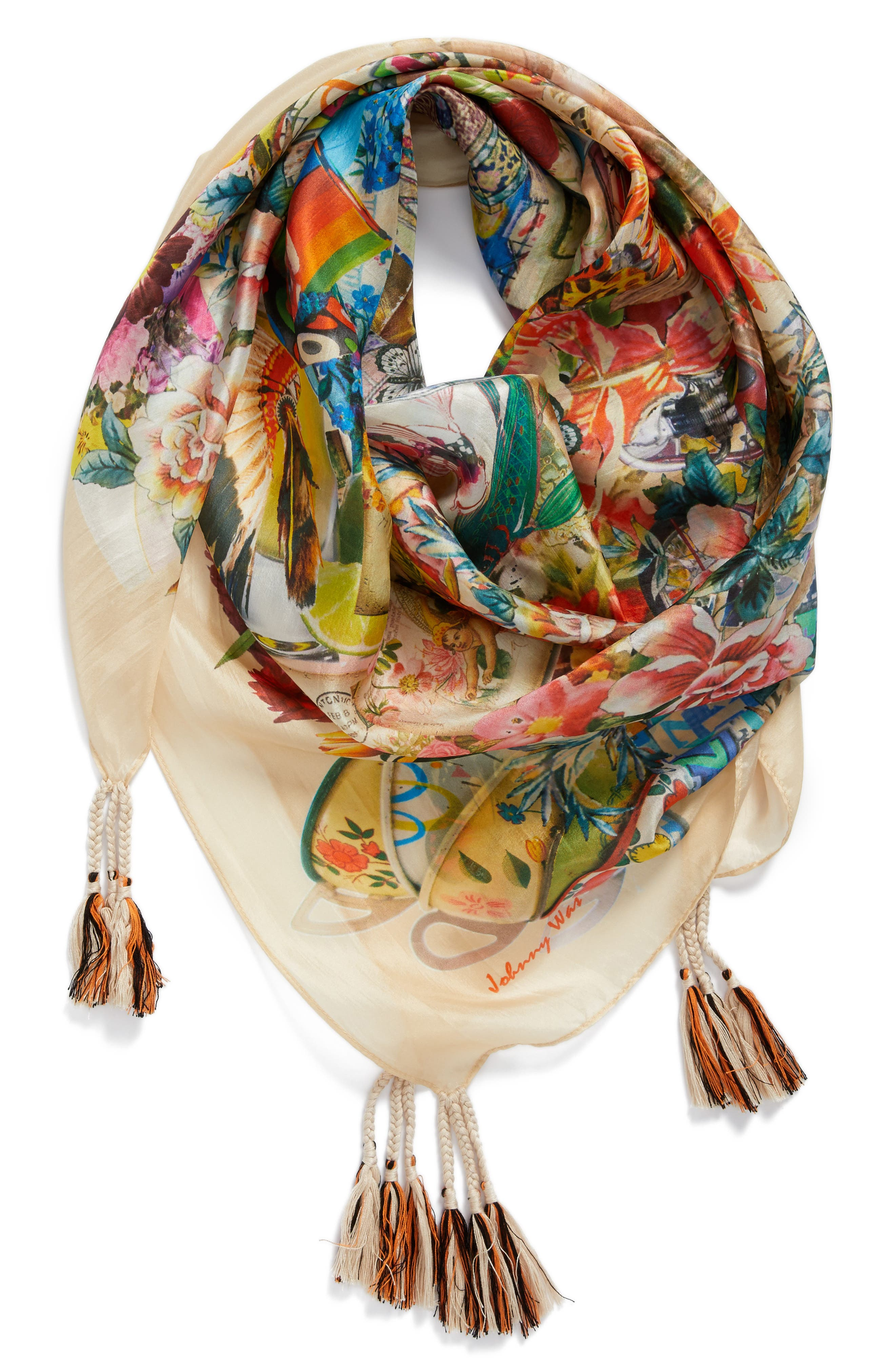 Festival Scarf,                         Main,                         color, Mixed Print