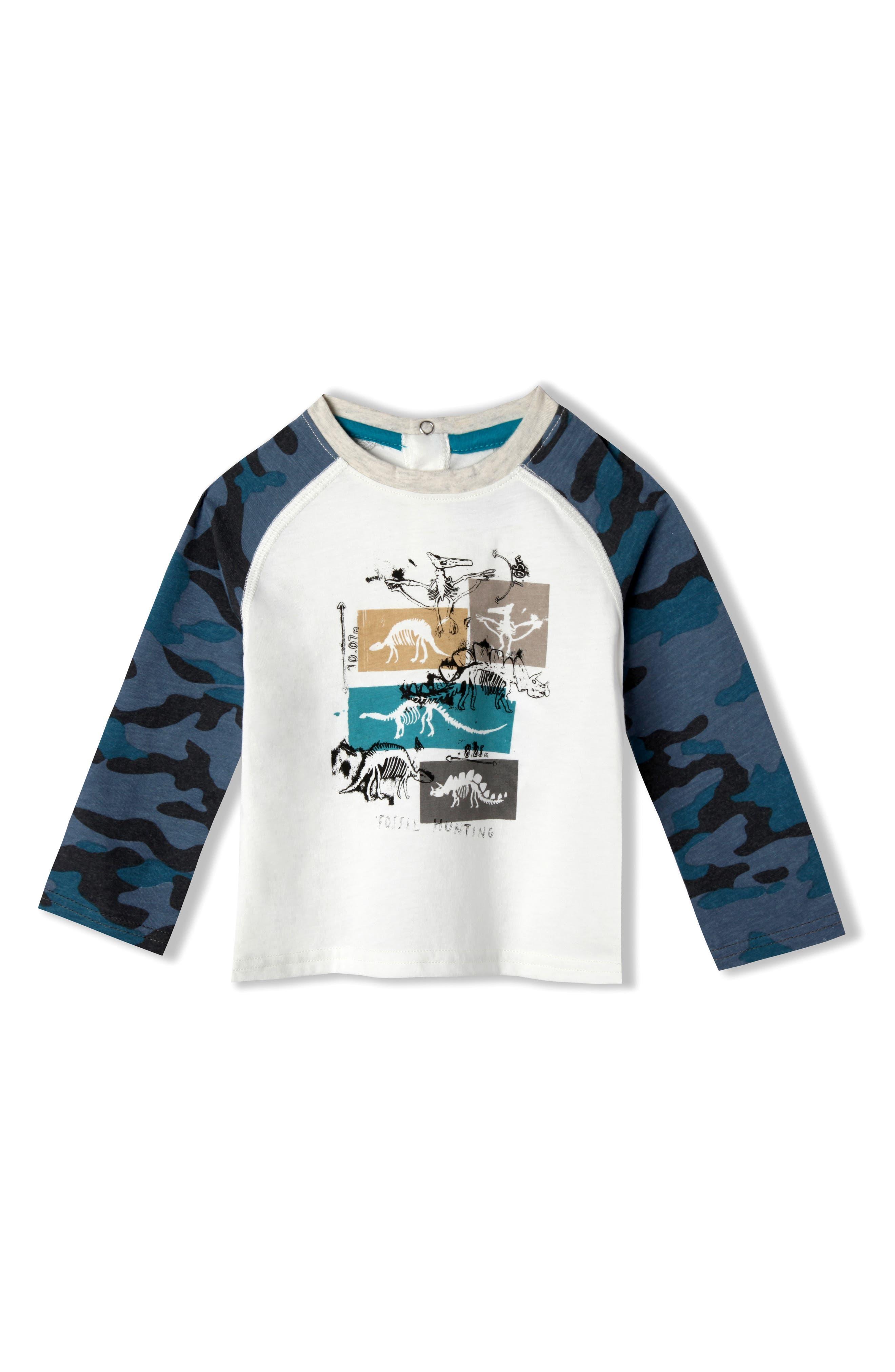 Art & Eden Mini Roar Organic Cotton Raglan T-Shirt (Baby Boys)
