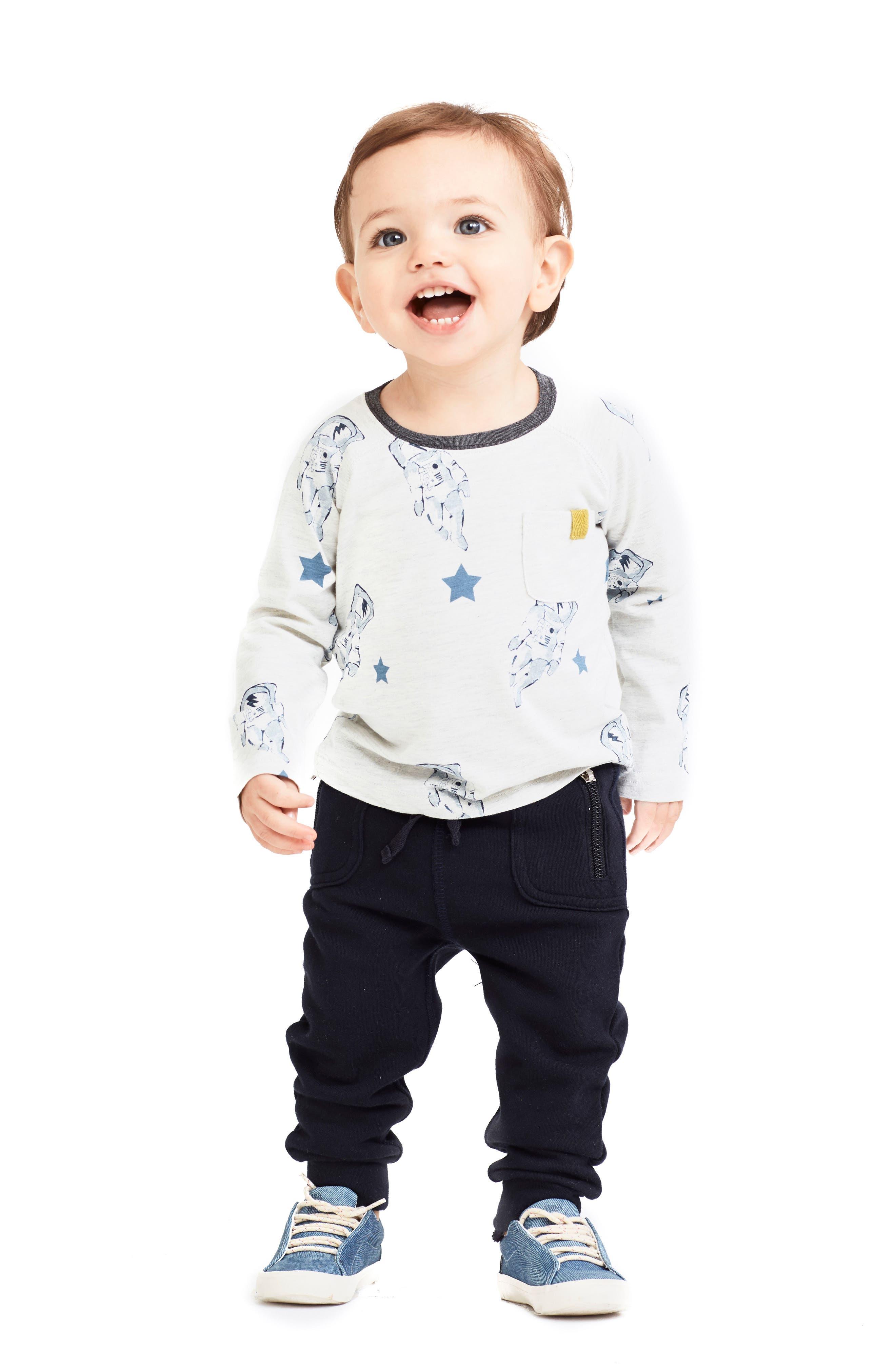 Alternate Image 3  - Art & Eden Mercer Organic Cotton Jogger Pants (Baby)