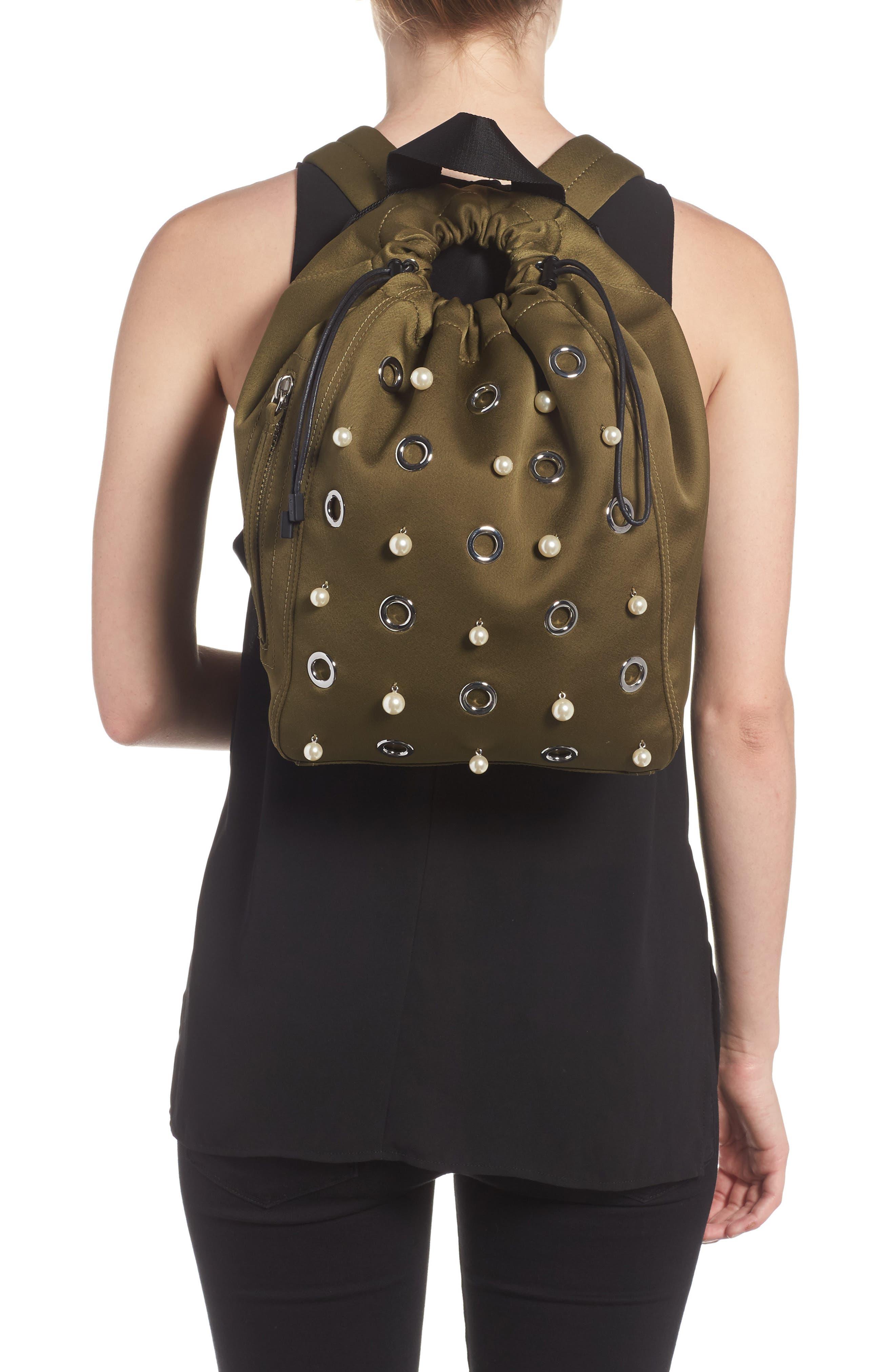 Phillip Lim 3.1 Medium Go-Go Embellished Backpack,                             Alternate thumbnail 2, color,                             Moss