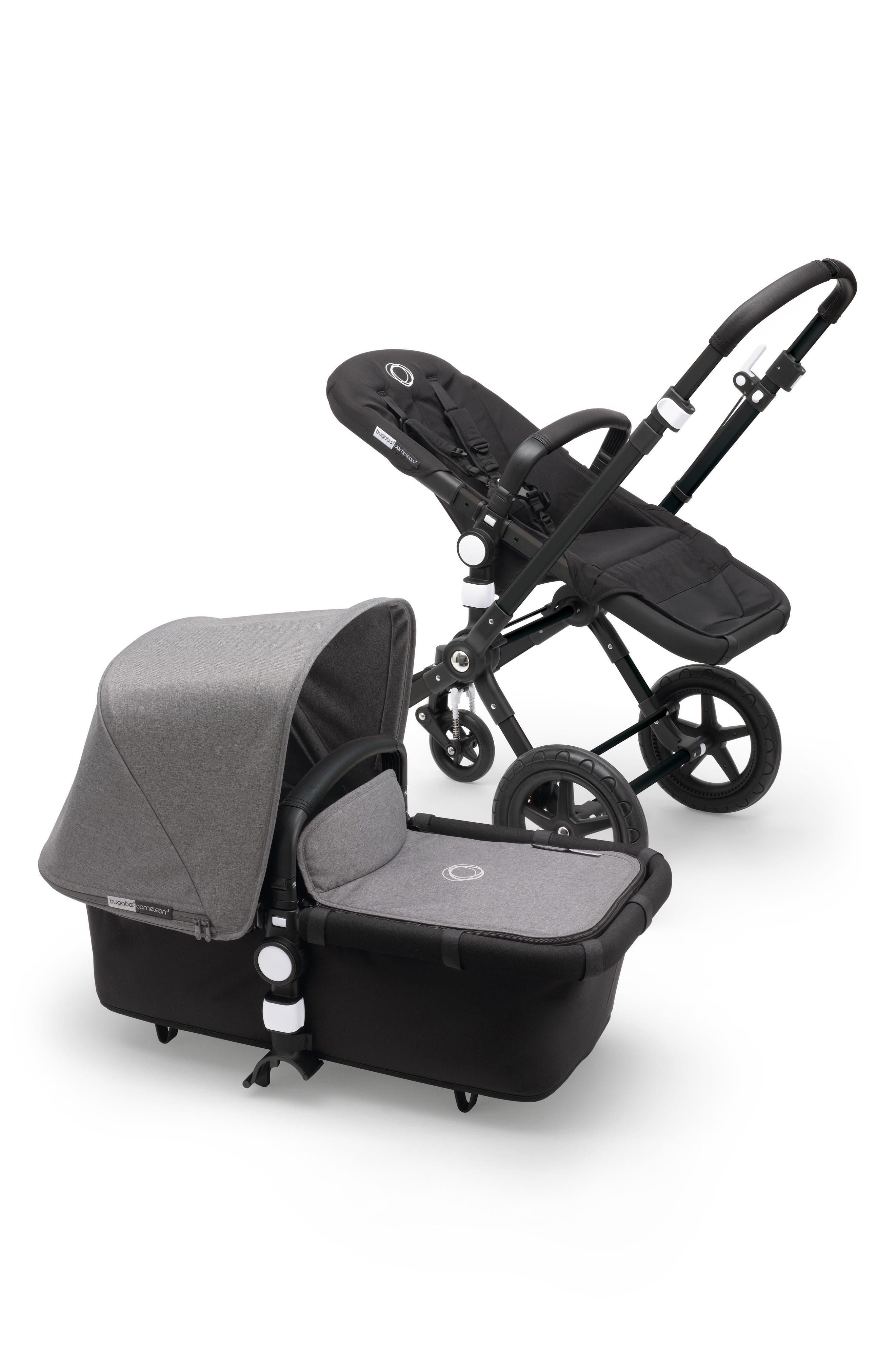 Cameleon³ Complete Stroller with Fabric Set,                         Main,                         color, Black/ Grey Melange